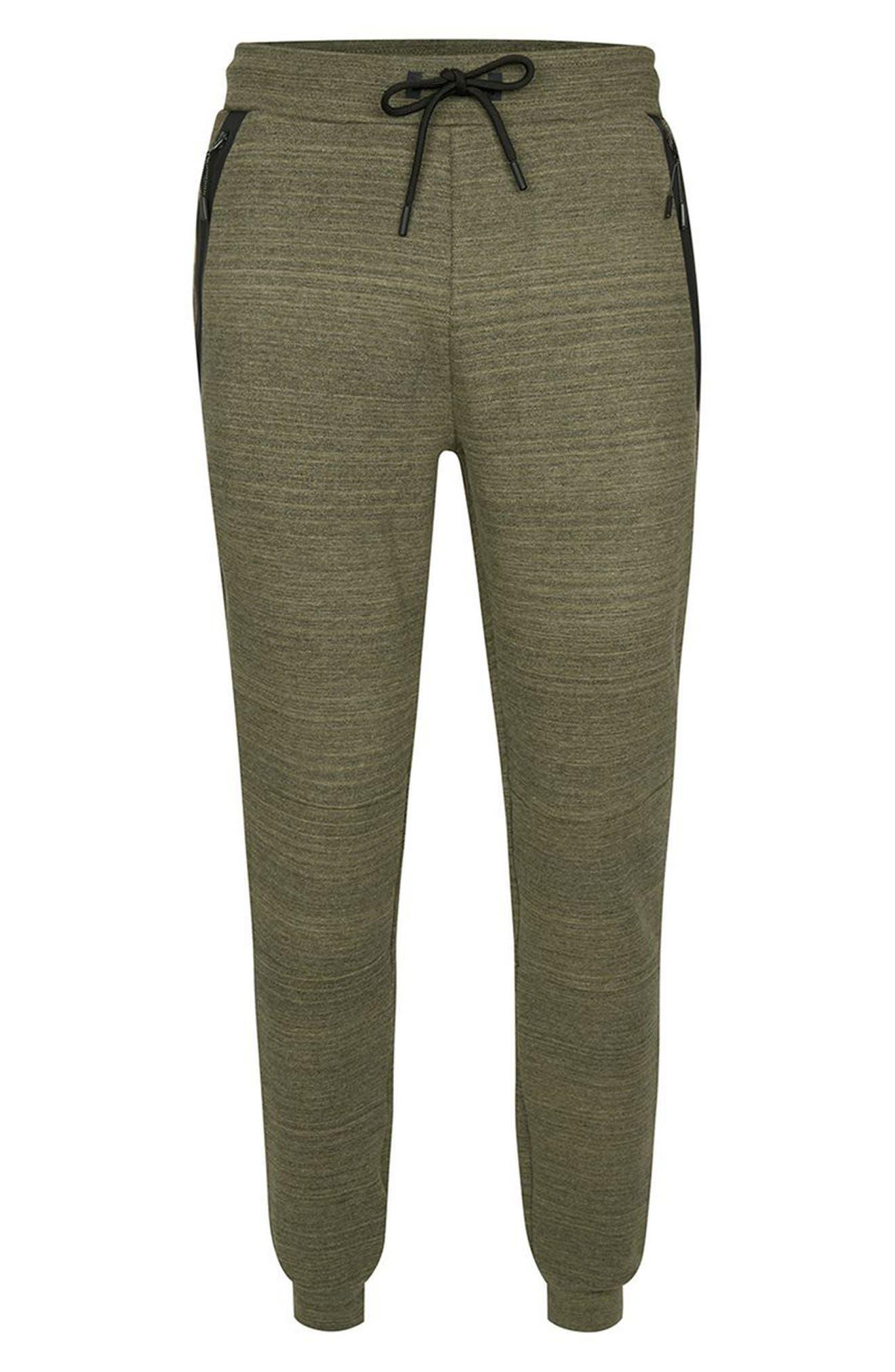 Zip Detail Skinny Jogger Pants,                             Alternate thumbnail 4, color,                             Olive