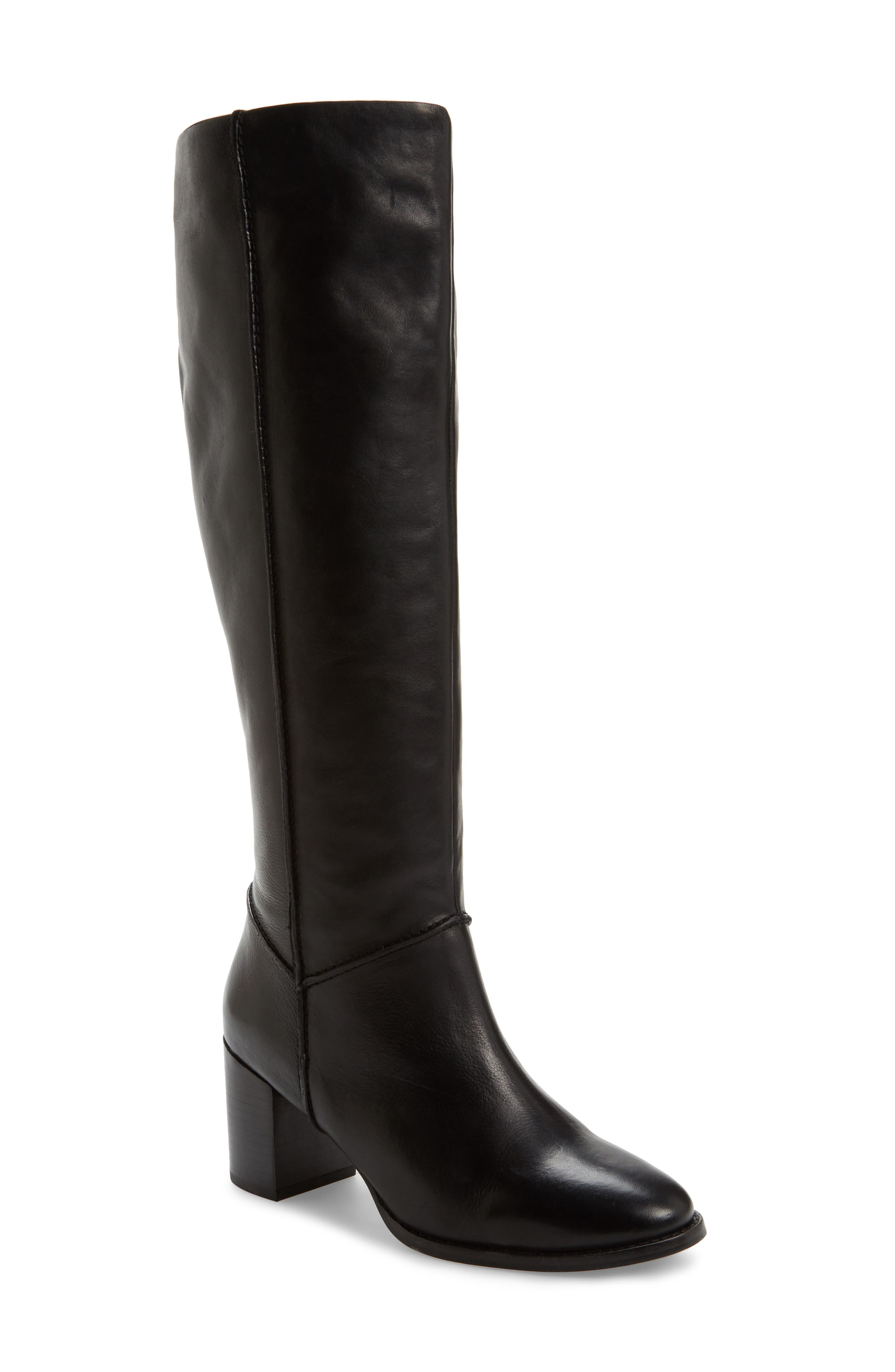 Final Bow Boot,                             Main thumbnail 1, color,                             Black Leather