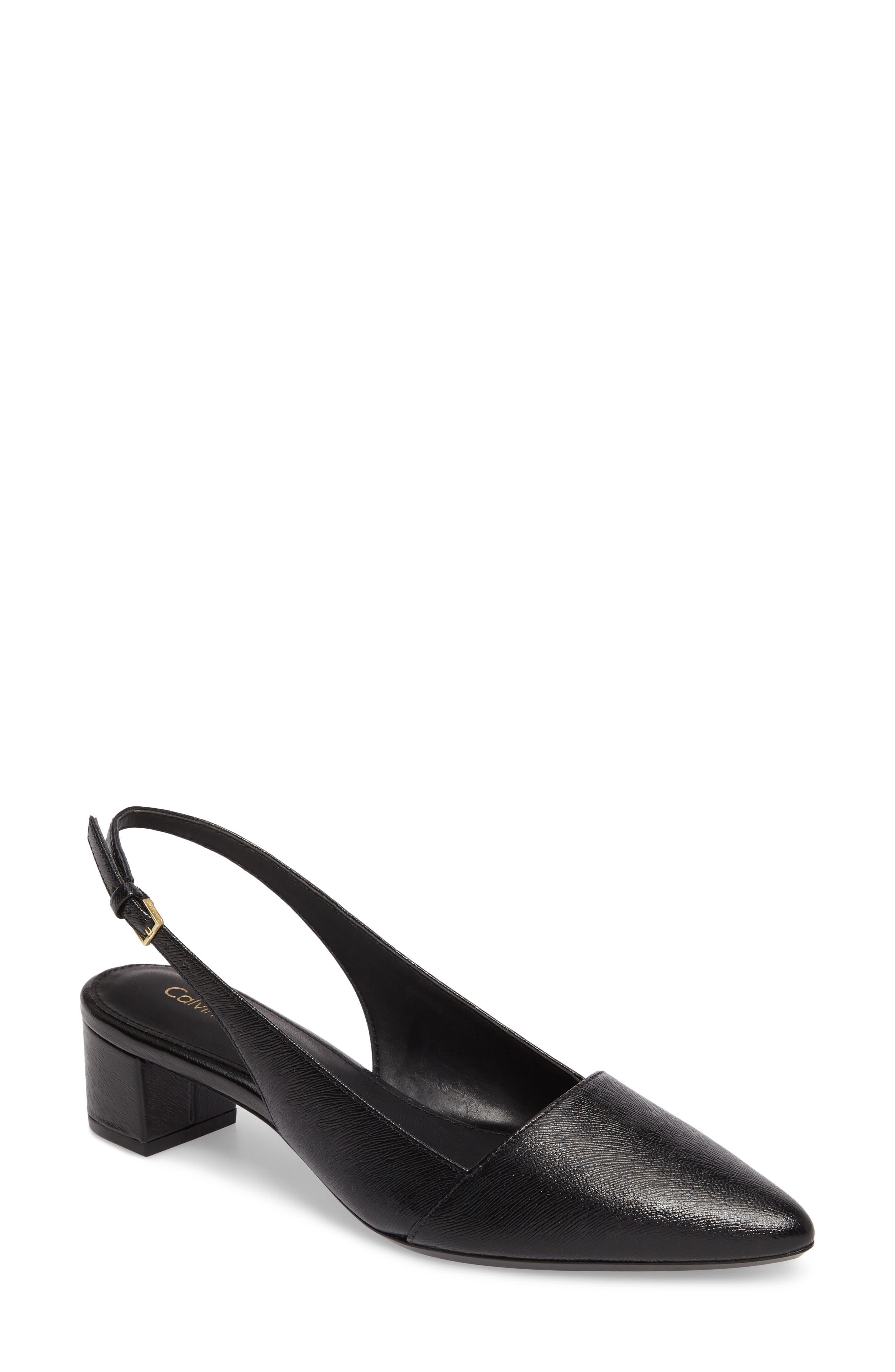 Galinda Slingback Pump,                         Main,                         color, Black Leather