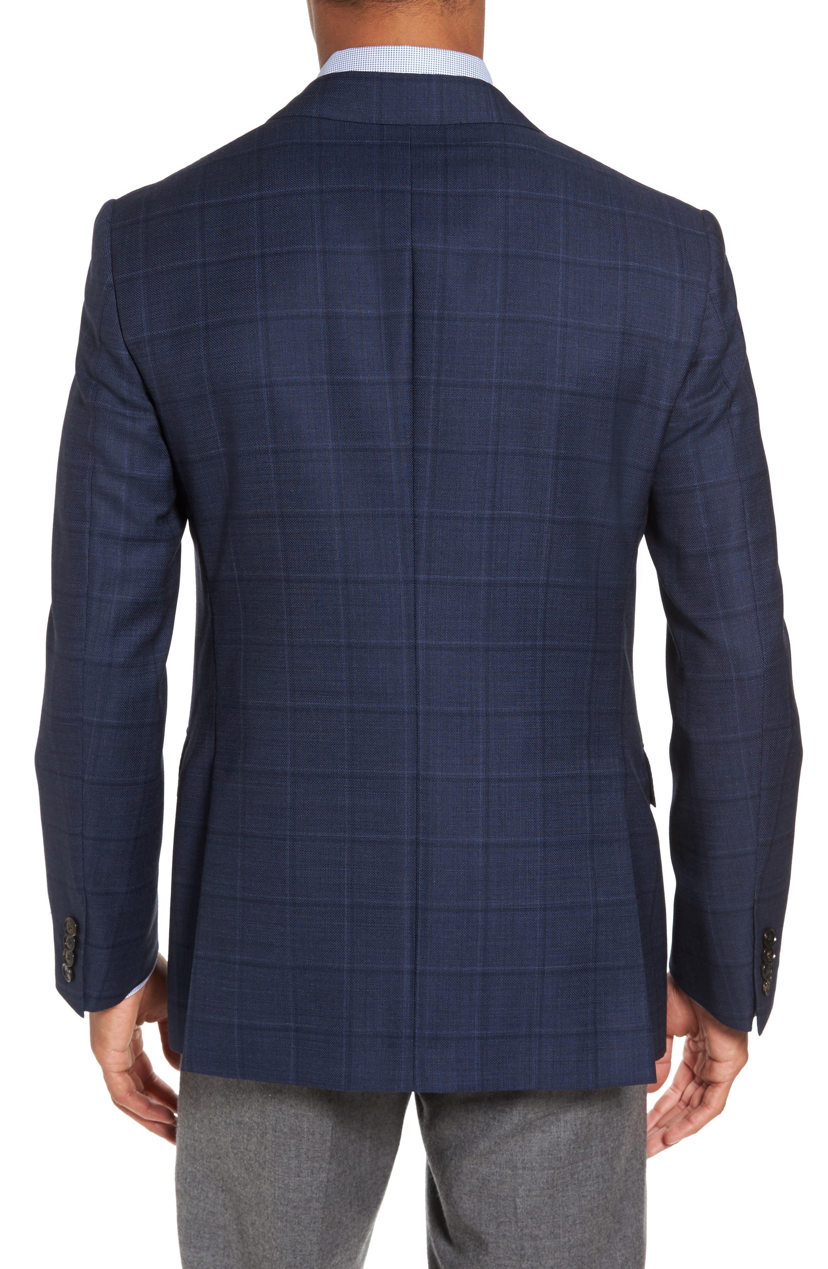 Alternate Image 2  - Pal Zileri Classic Fit Windowpane Wool Sport Coat