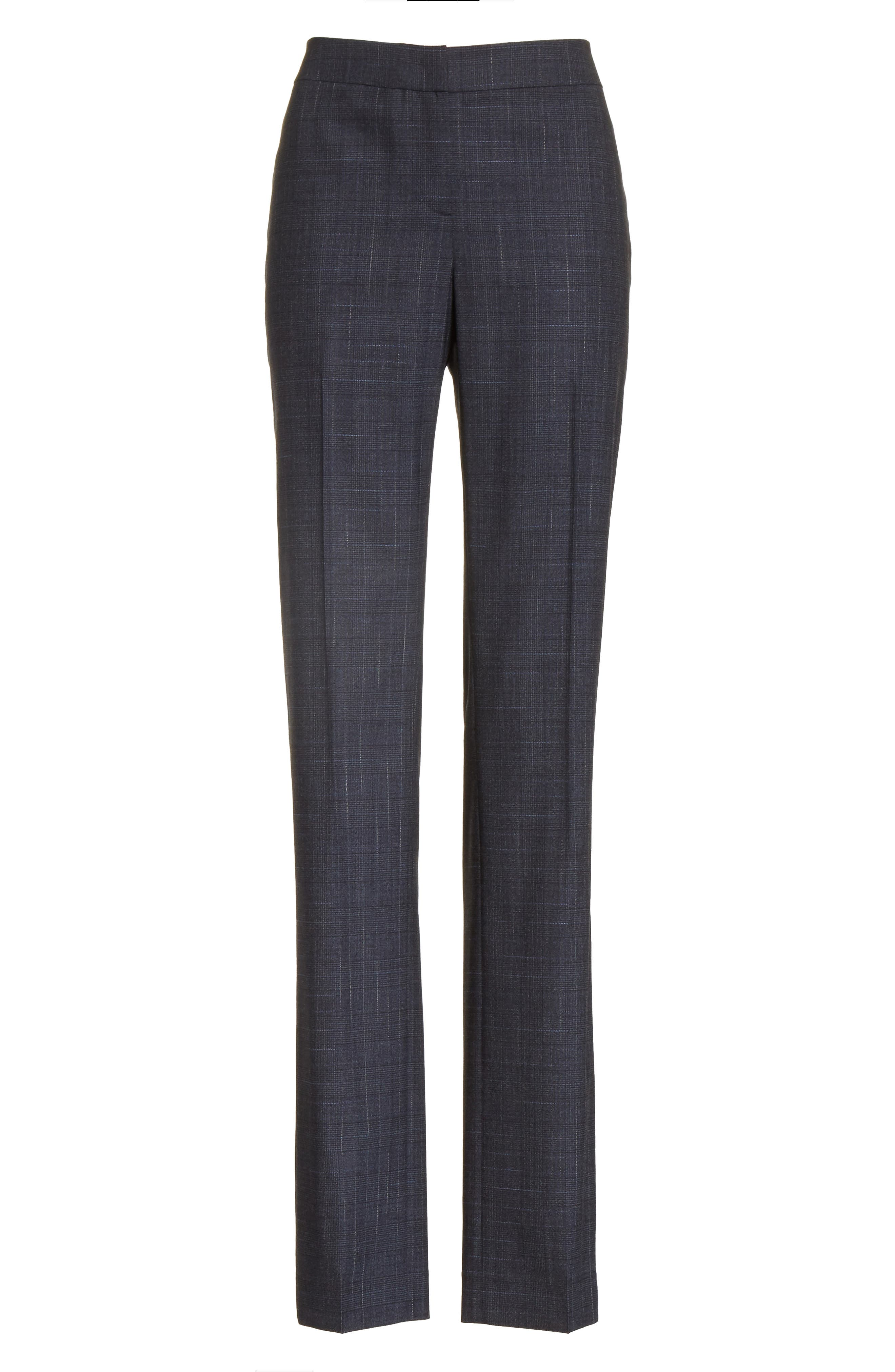 Barrow Stretch Wool Pants,                             Alternate thumbnail 10, color,                             Ink Multi