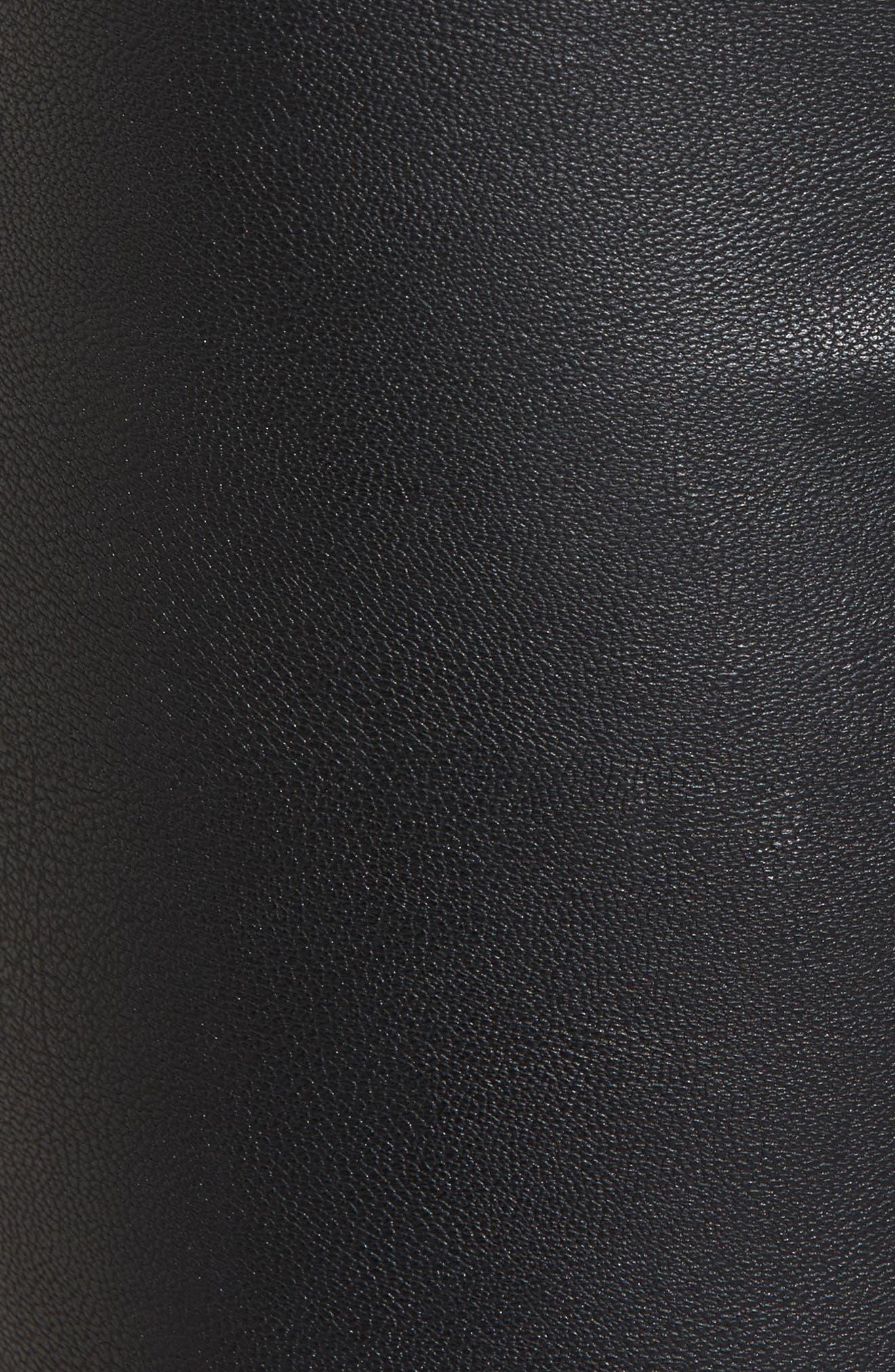 Gemma High Waist Faux Leather Leggings,                             Alternate thumbnail 6, color,                             Black