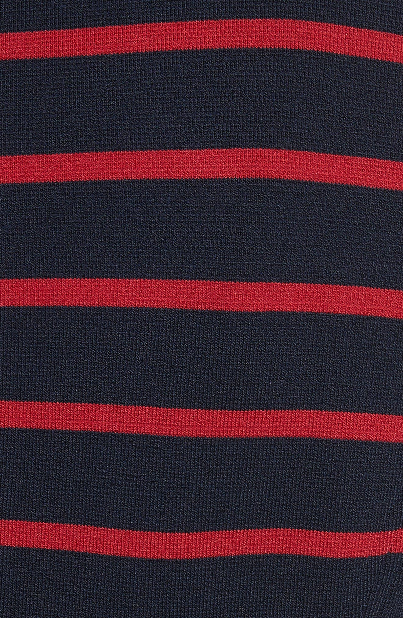 Fontana Stripe Jacket,                             Alternate thumbnail 5, color,                             Navy/ Red
