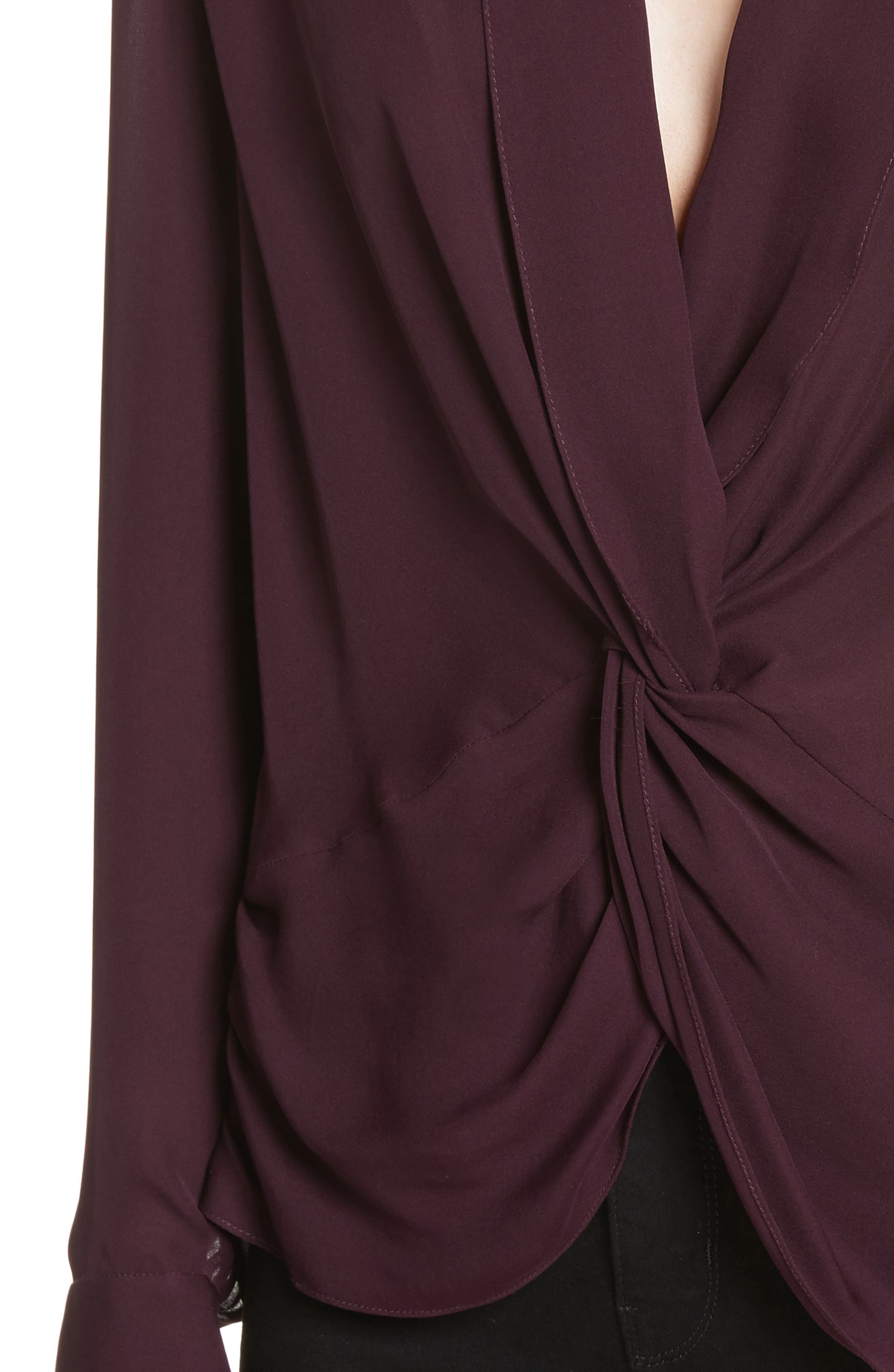 Alternate Image 4  - L'AGENCE Twist Front Silk Blouse