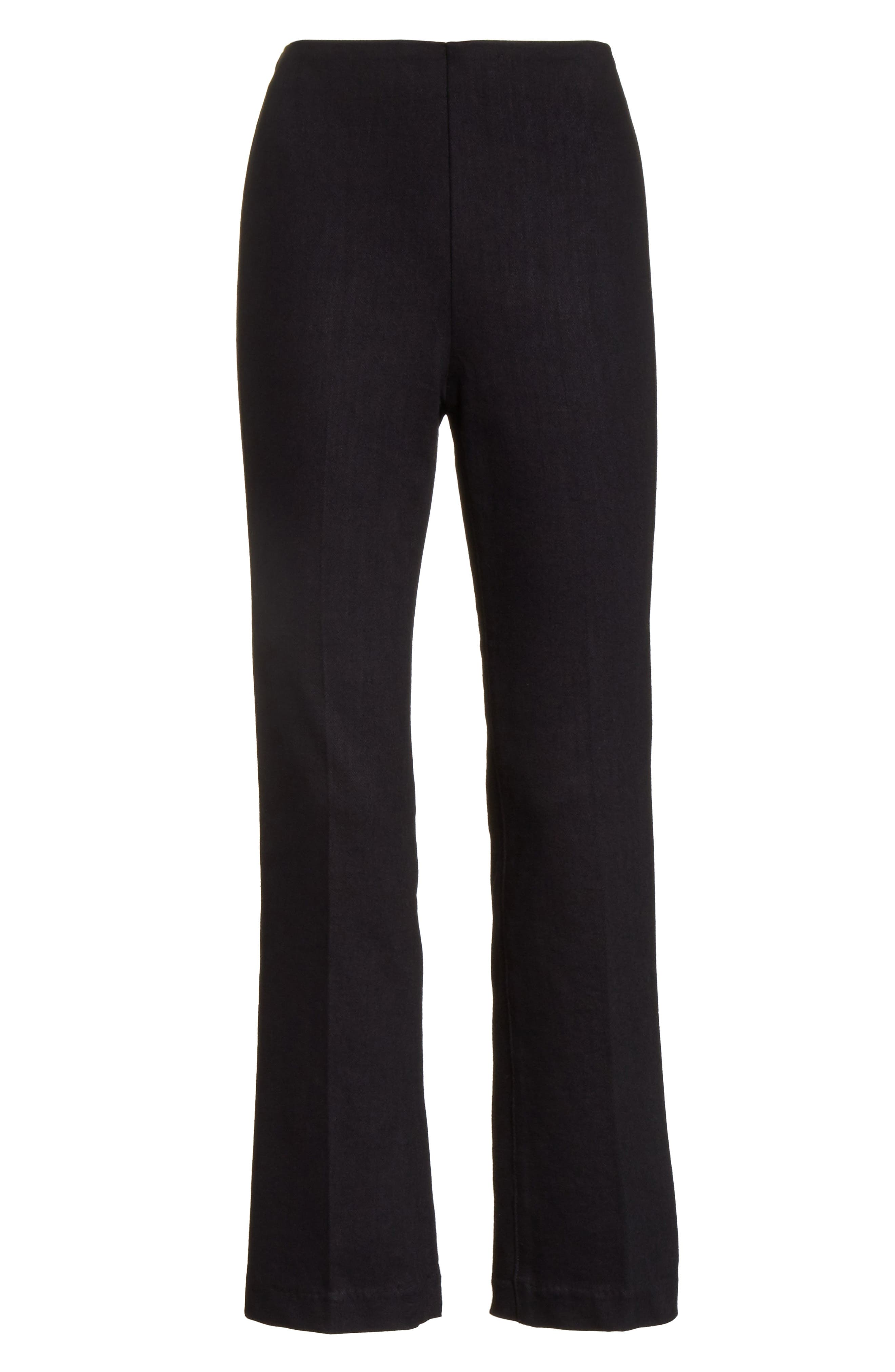 Hina High Rise Crop Pants,                             Alternate thumbnail 6, color,                             Black