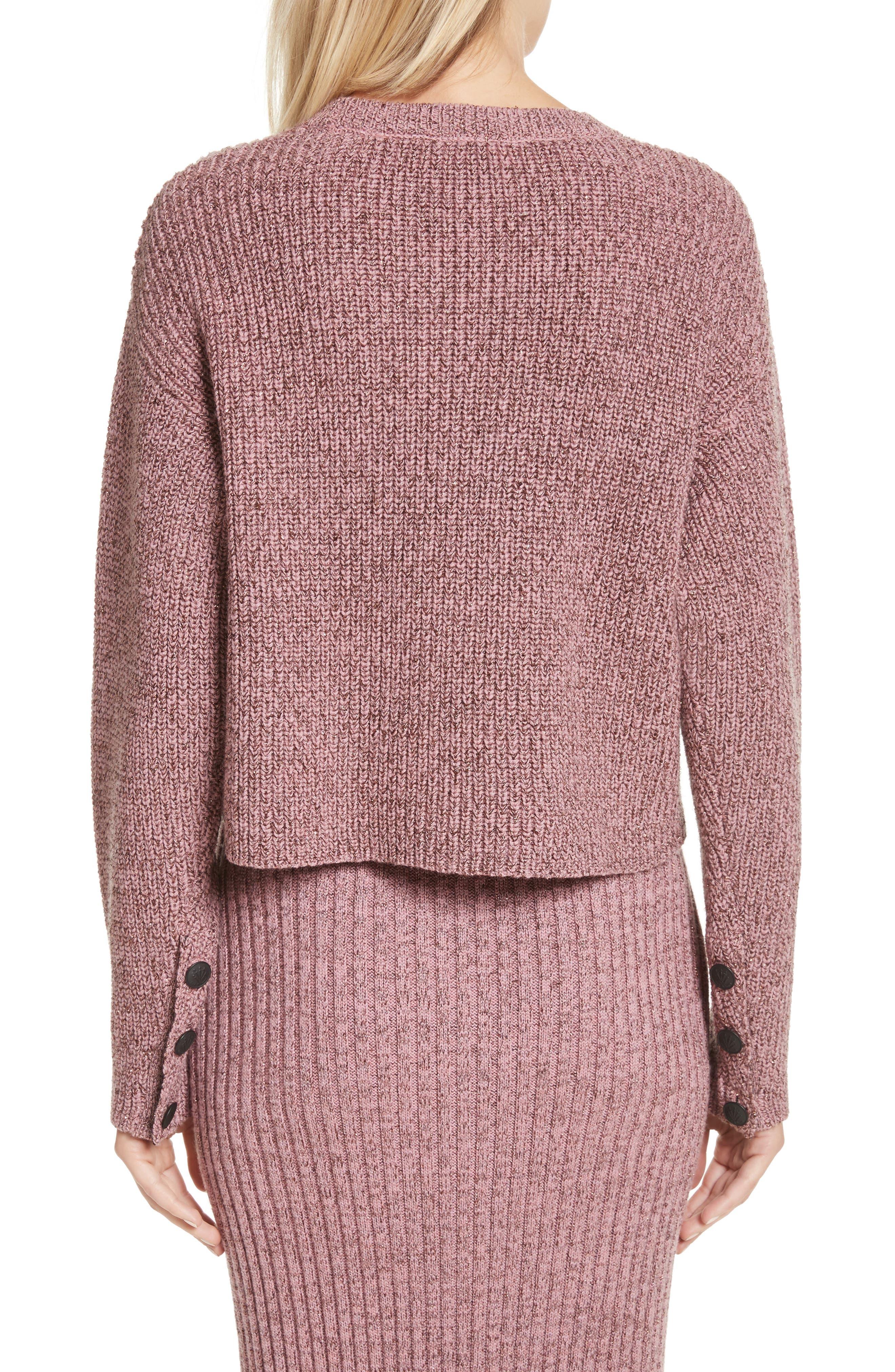 Alternate Image 3  - rag & bone Leyton Metallic Knit Merino Wool Blend Sweater