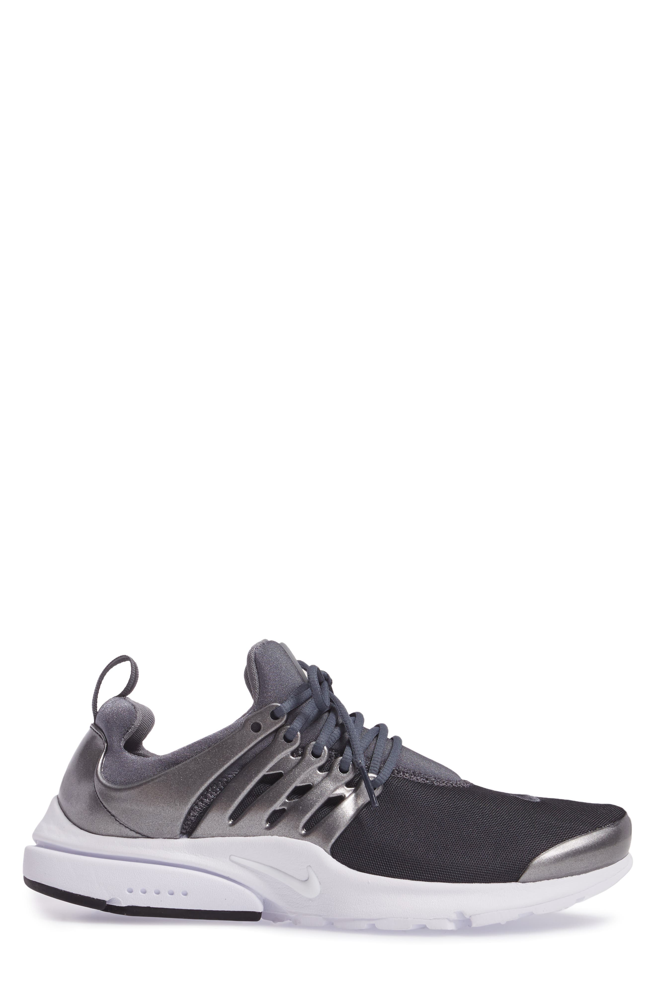 Air Presto Premium Sneaker,                             Alternate thumbnail 3, color,                             Metallic Hematite/ Cool Grey