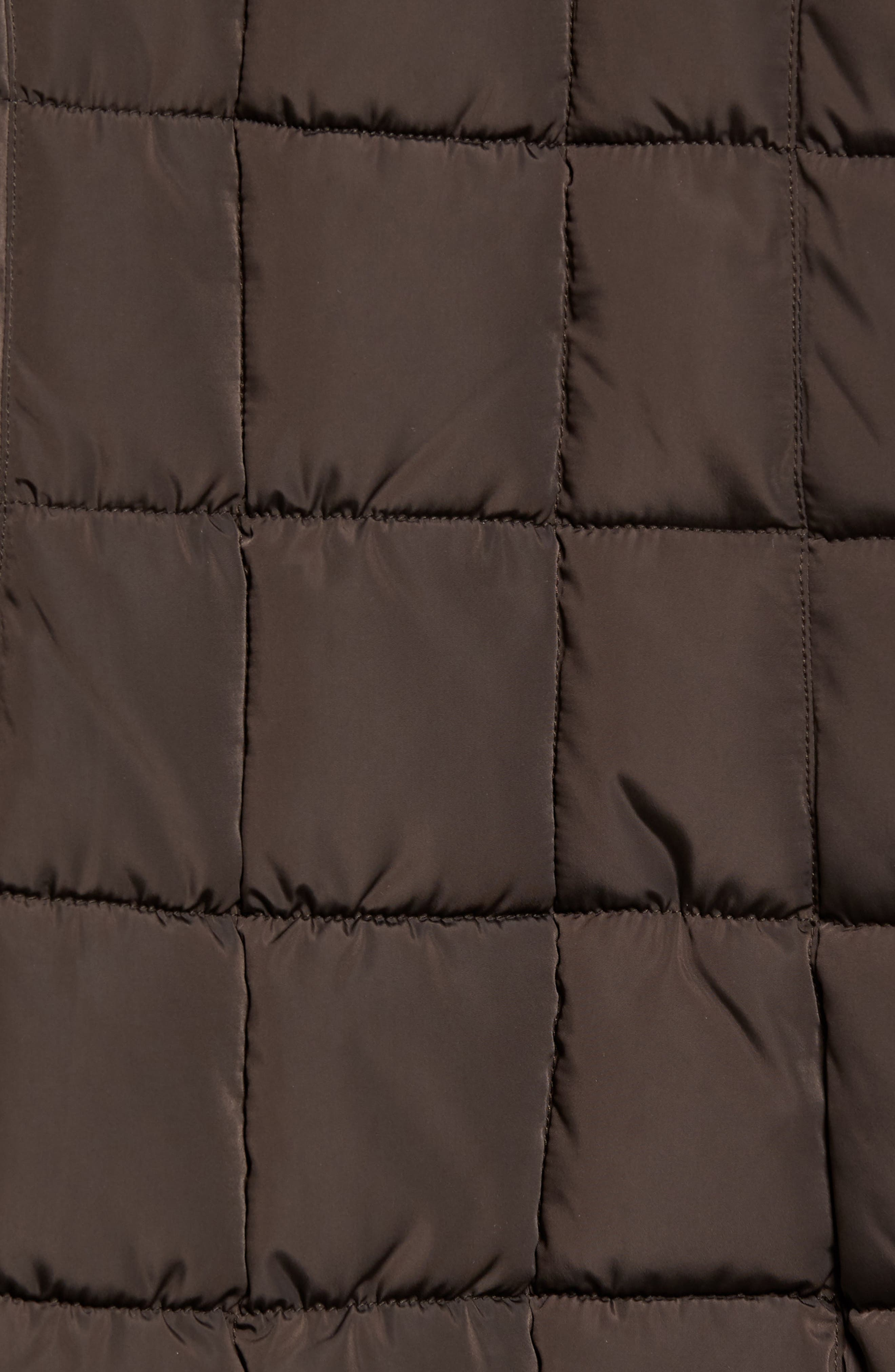 Alternate Image 5  - Calvin Klein Quilted Down Coat with Vest Inset