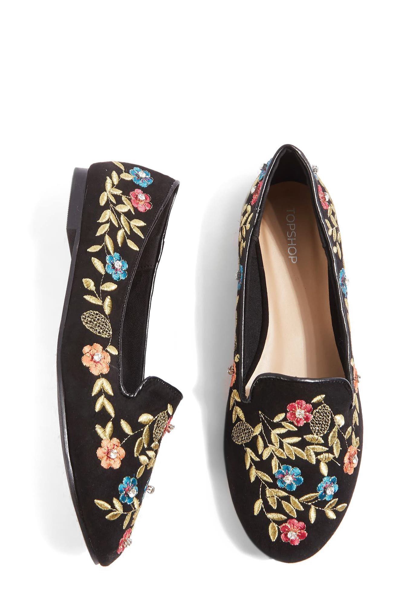 Alternate Image 8  - Topshop Sweetie Embroidered Loafer (Women)
