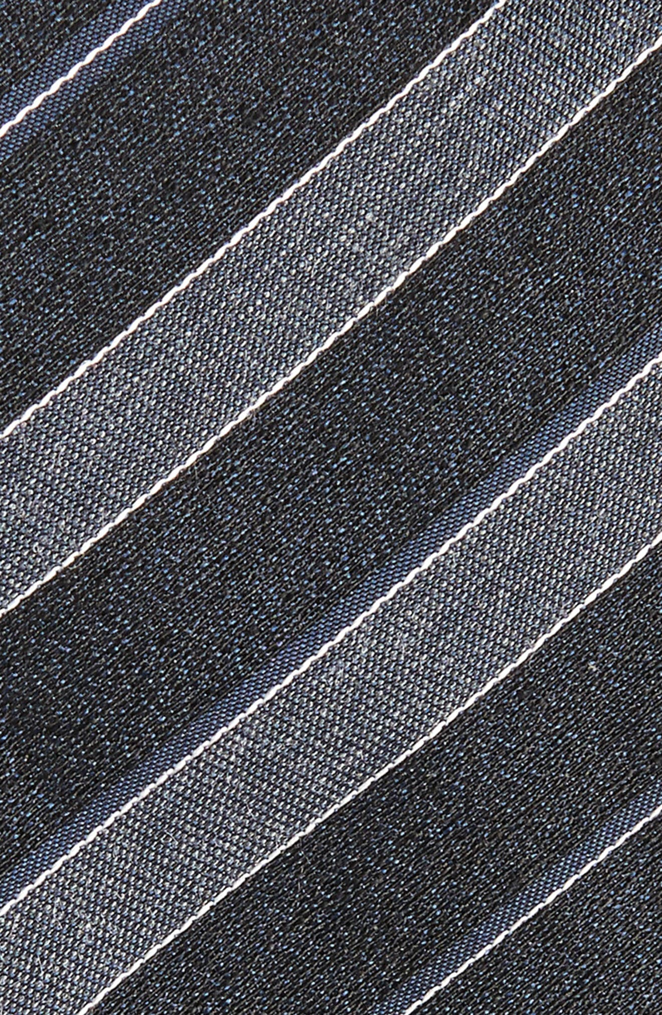 Stripe Silk Blend Tie,                             Alternate thumbnail 2, color,                             Dark Charcoal