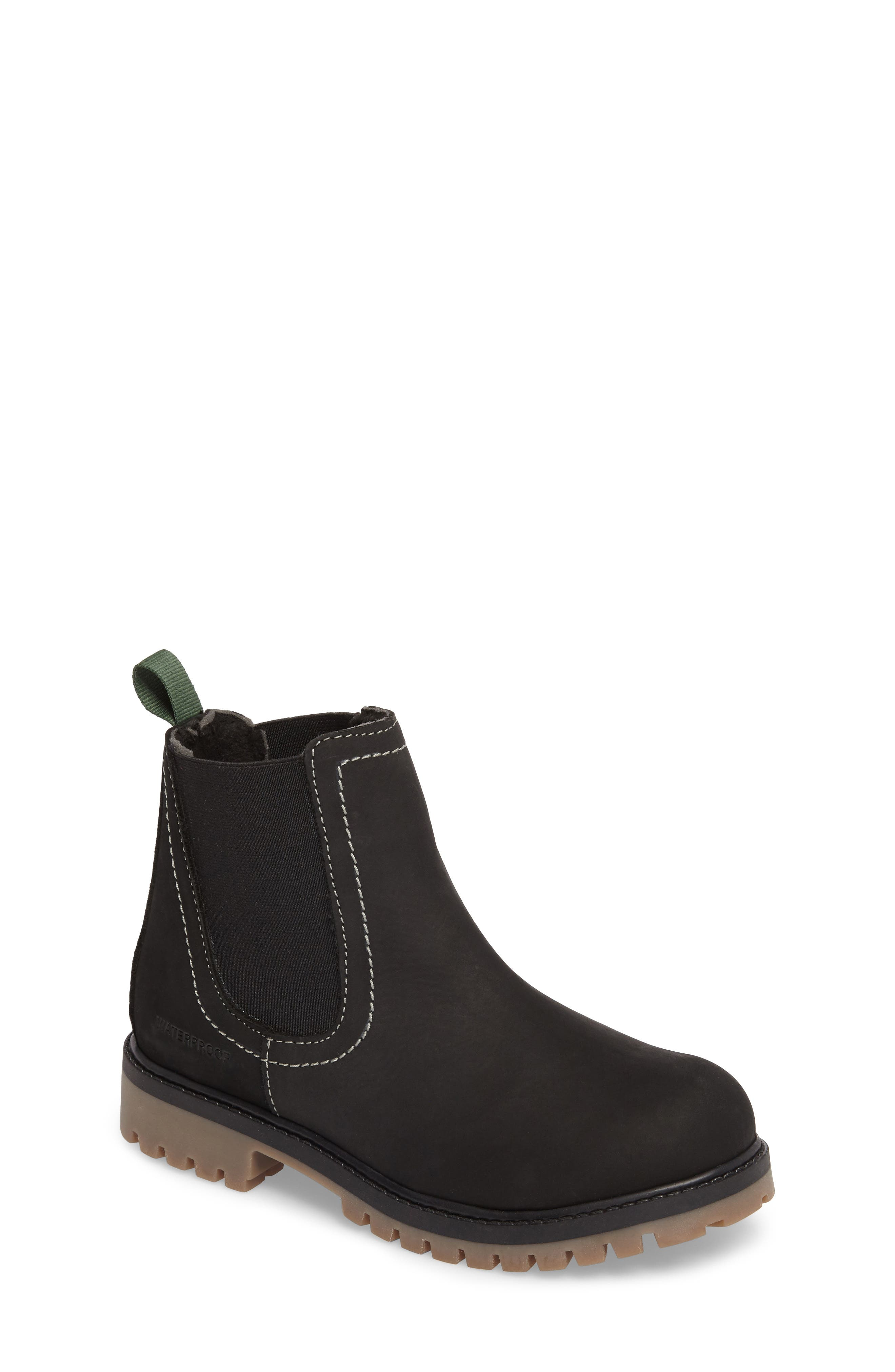 TakodaC Waterproof Chelsea Boot,                         Main,                         color, Black
