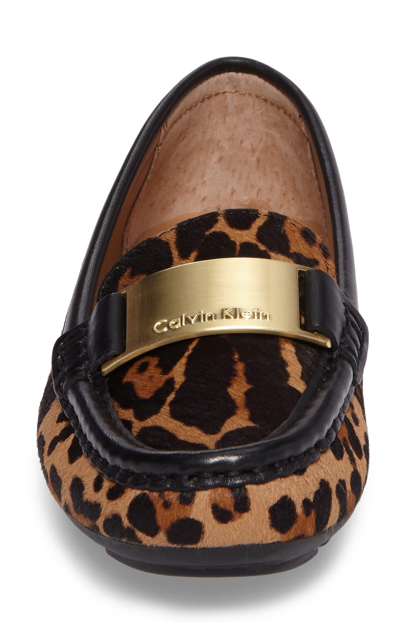 Lisette Loafer,                             Alternate thumbnail 4, color,                             Natural Leopard Hair Calf