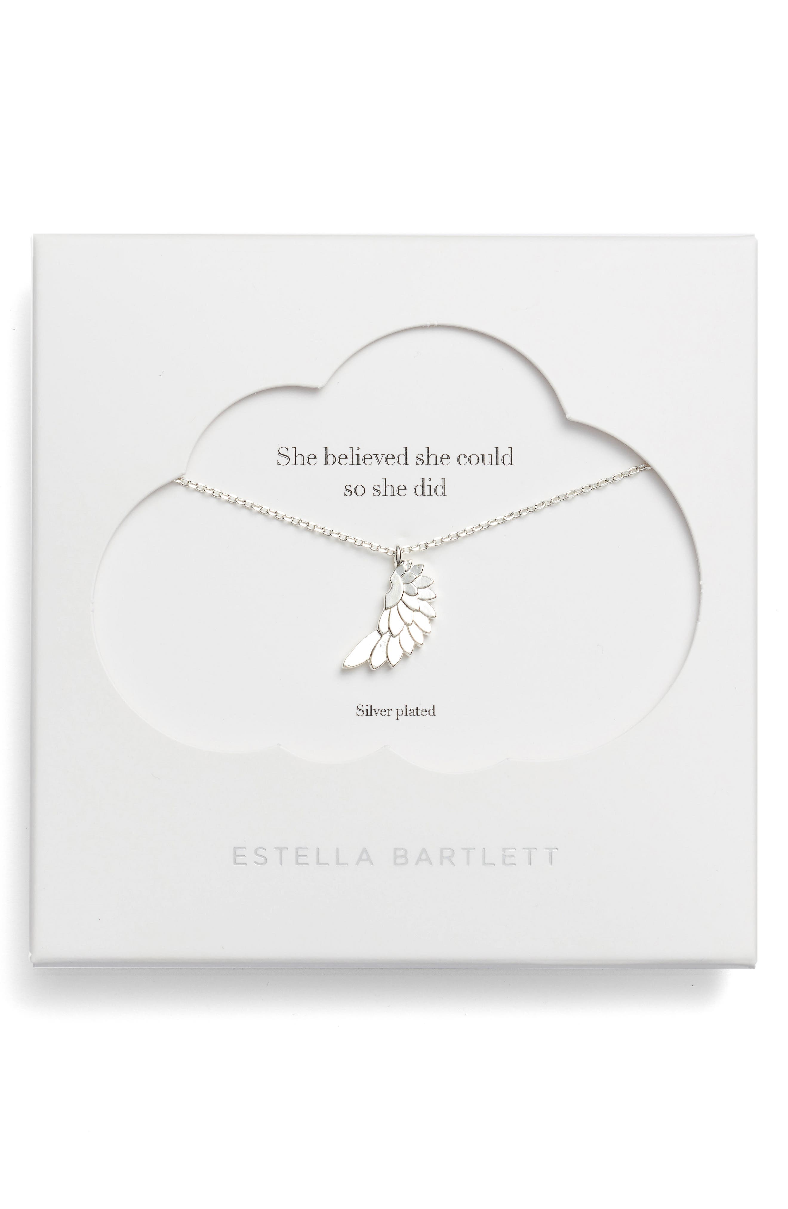 Estella Bartlett She Believed She Could So She Did - Wings Pendant Necklace