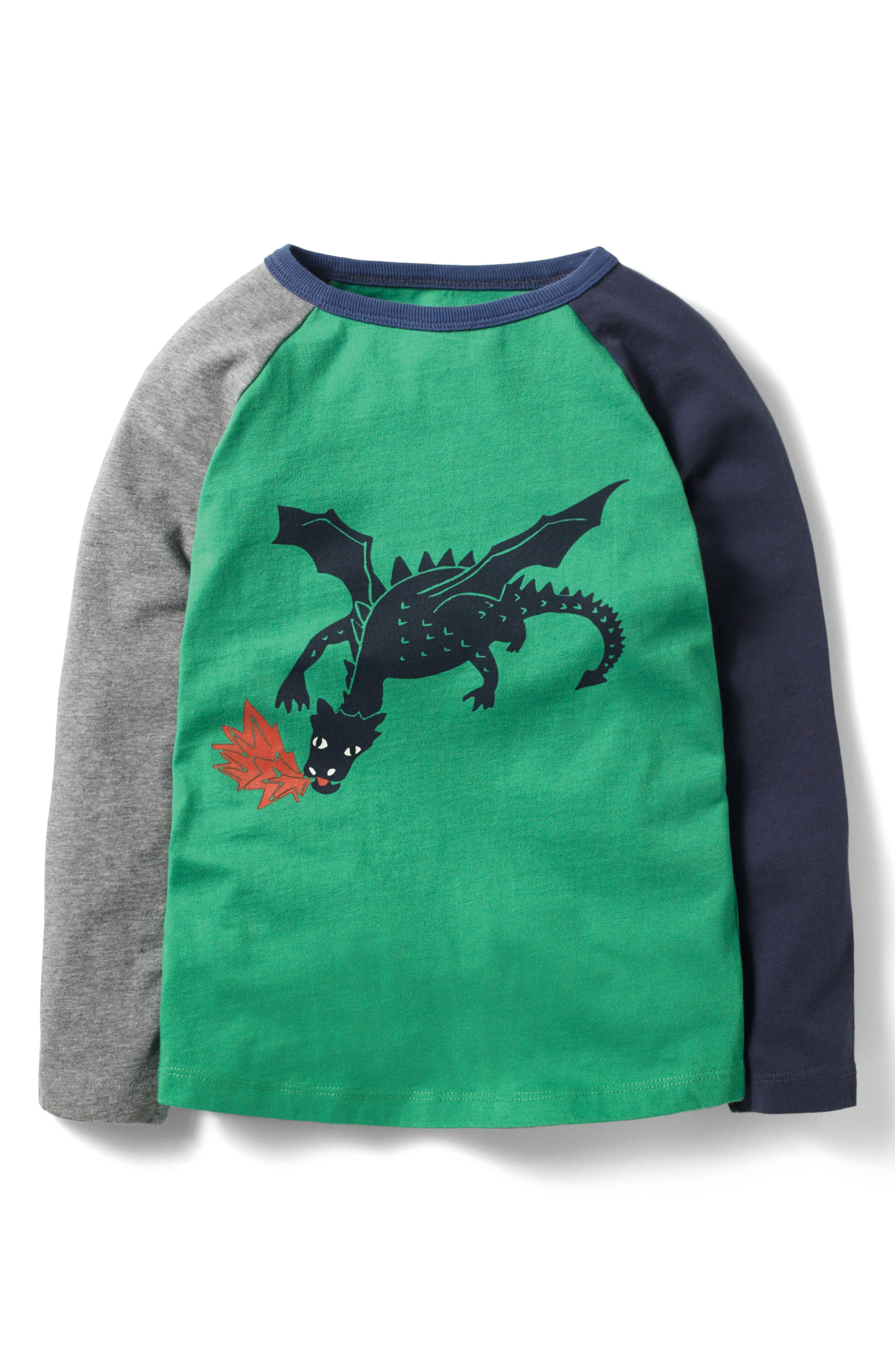 Mythical Superstitch T-Shirt,                             Alternate thumbnail 2, color,                             Charcoal Grey Marl Dragon