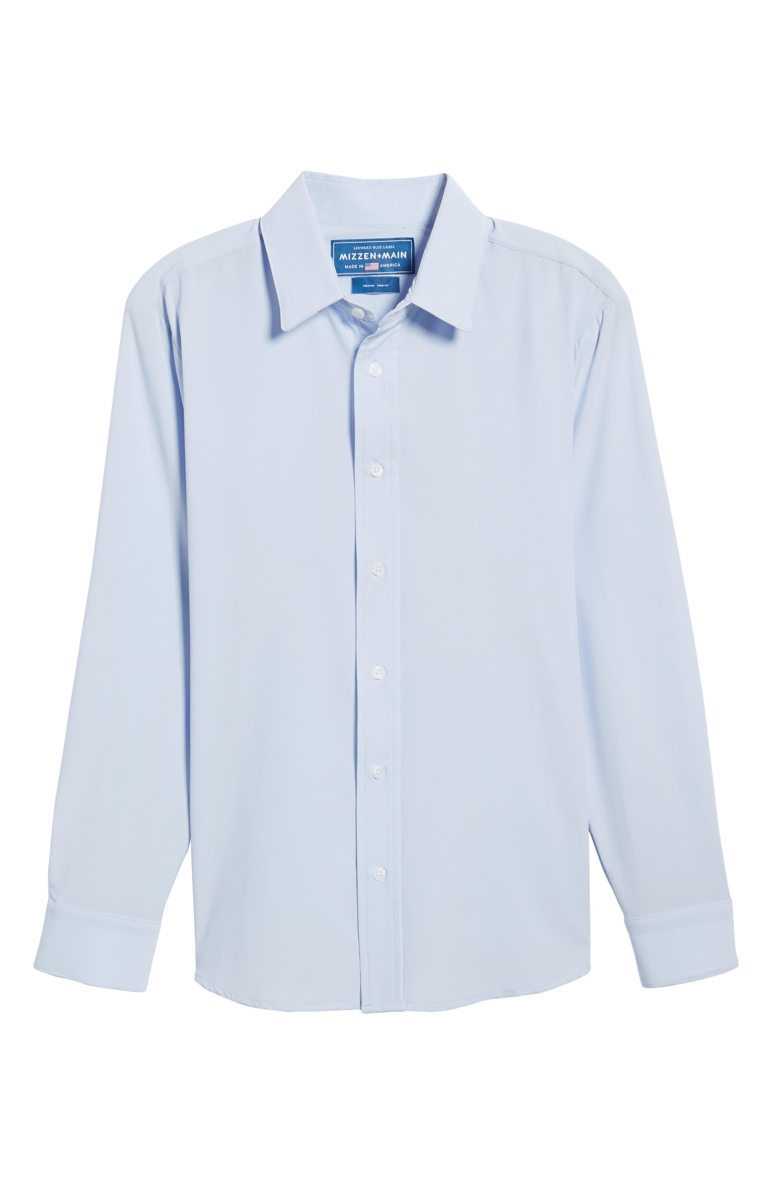Blue Label Nelson Slim Fit Sport Shirt,                             Alternate thumbnail 6, color,                             Blue