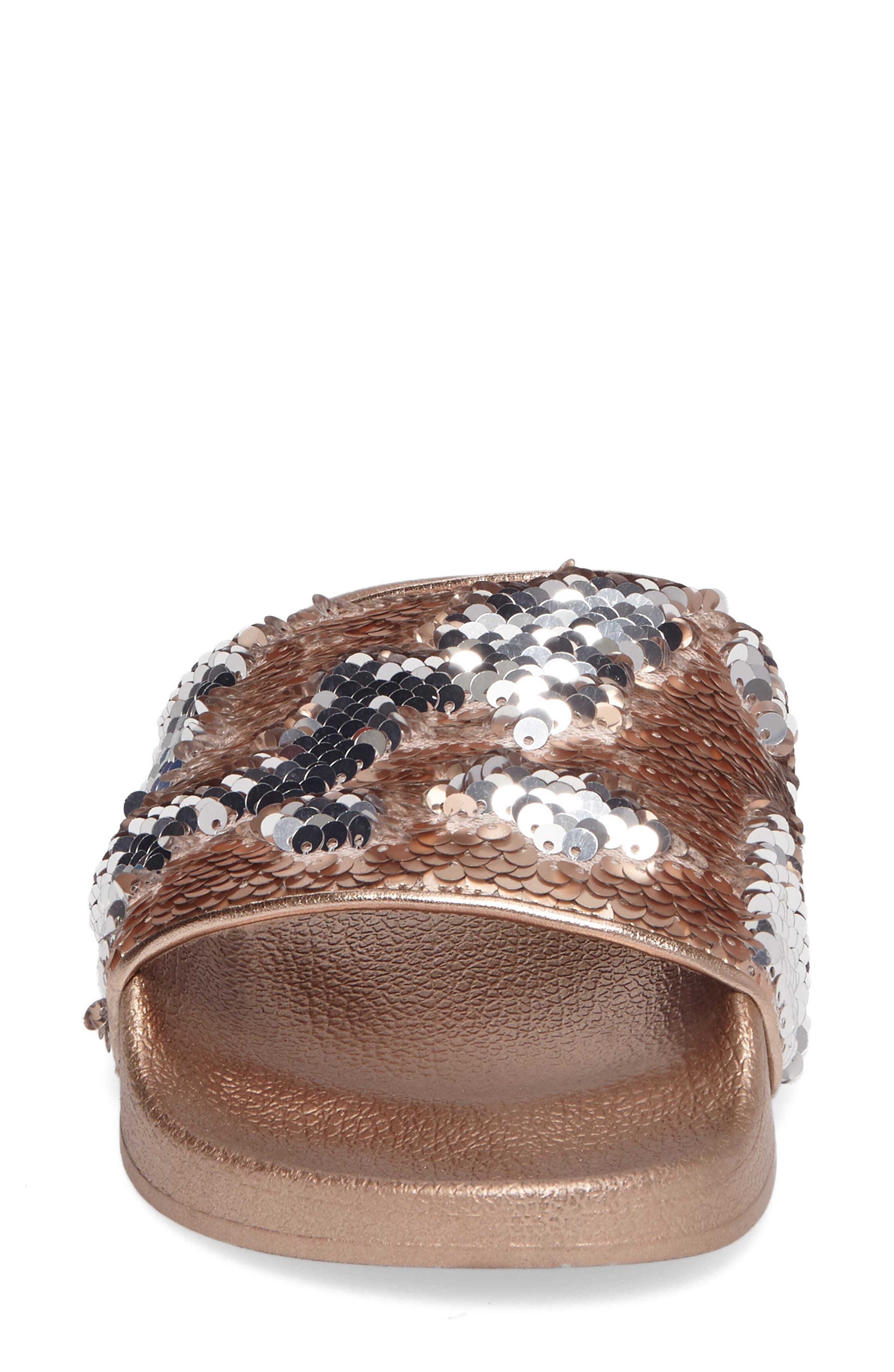 Alternate Image 4  - Steve Madden Softey Sequin Slide Sandal (Women)