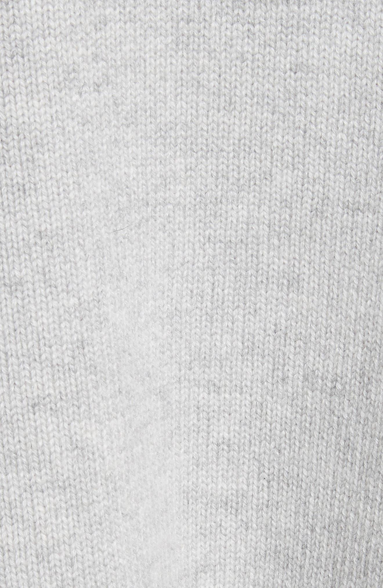 Blouson Sleeve Cashmere Hoodie,                             Alternate thumbnail 6, color,                             Heather Grey