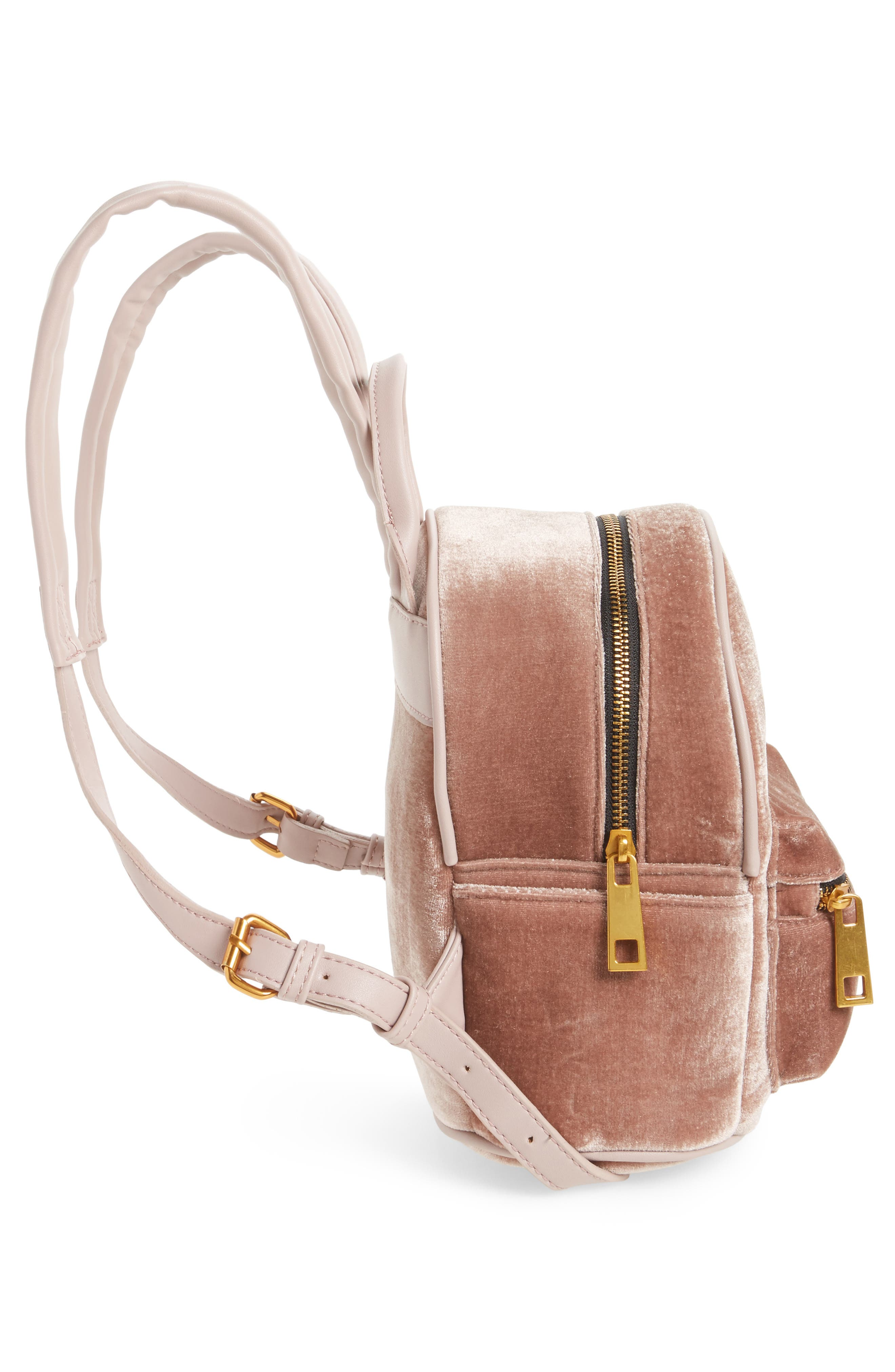 Alternate Image 4  - Street Level Velvet Backpack