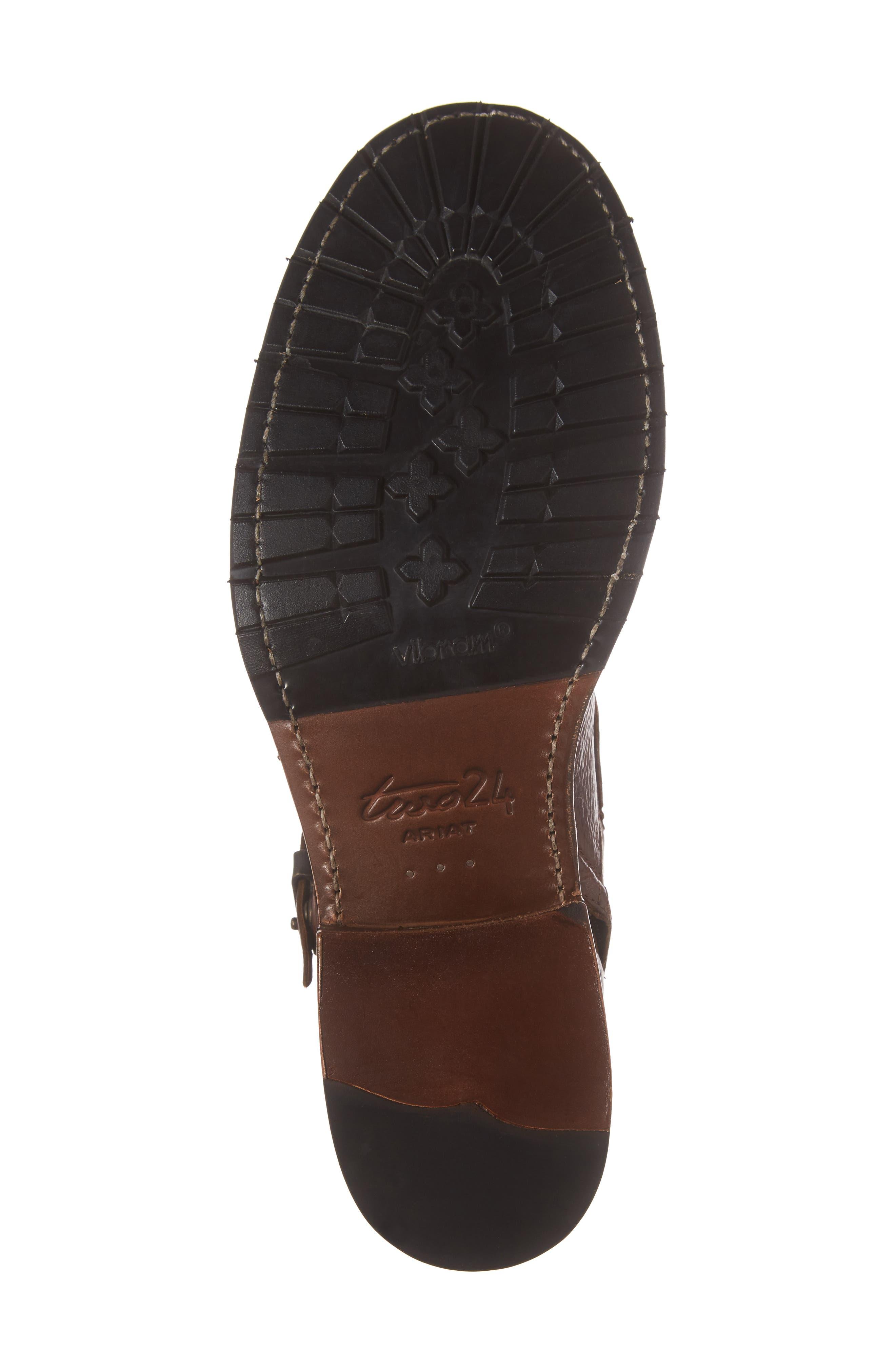 Montclair Zip Boot,                             Alternate thumbnail 6, color,                             Brown Leather