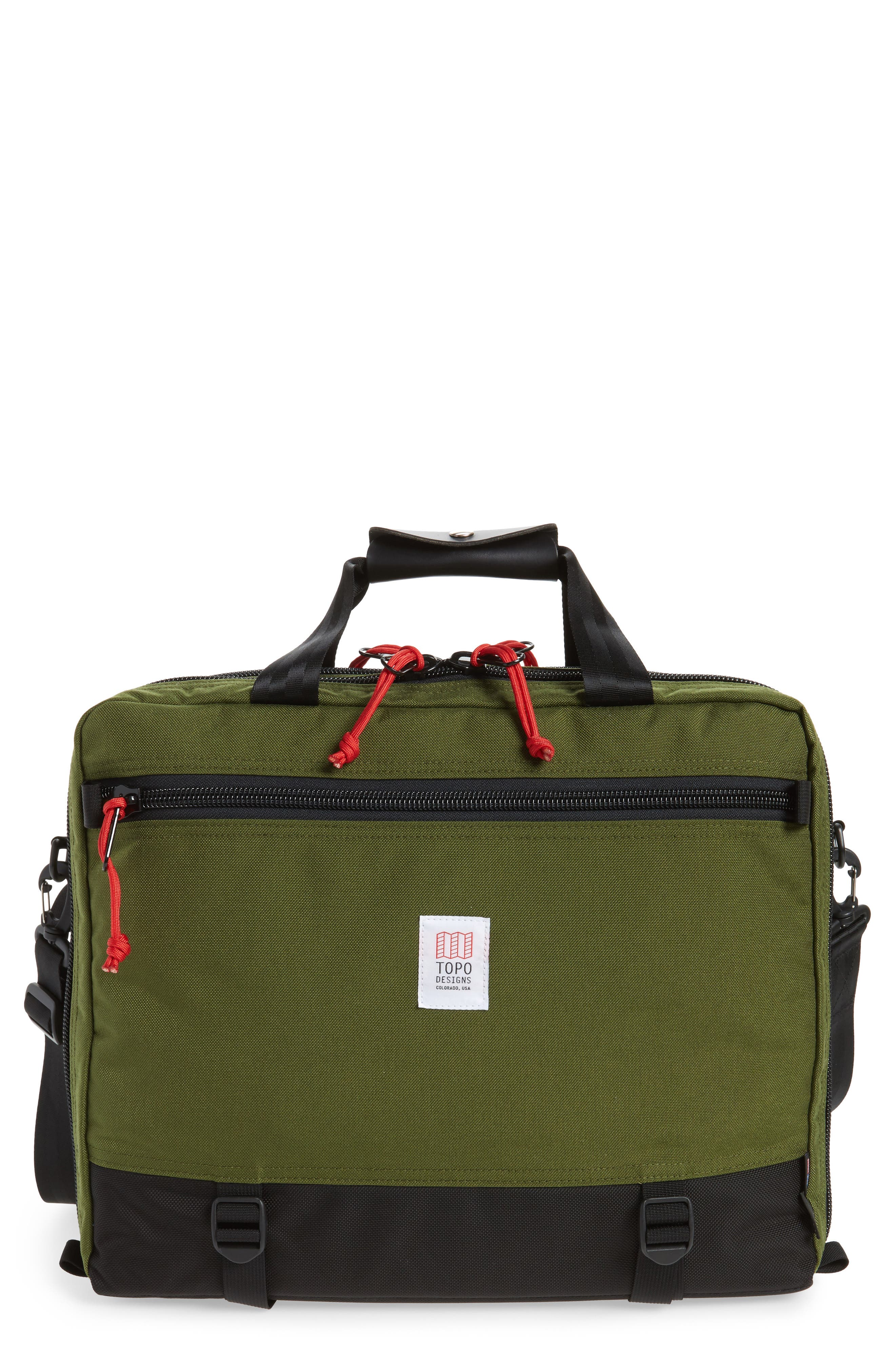 3-Day Briefcase,                             Main thumbnail 1, color,                             Olive/ Ballistic Black