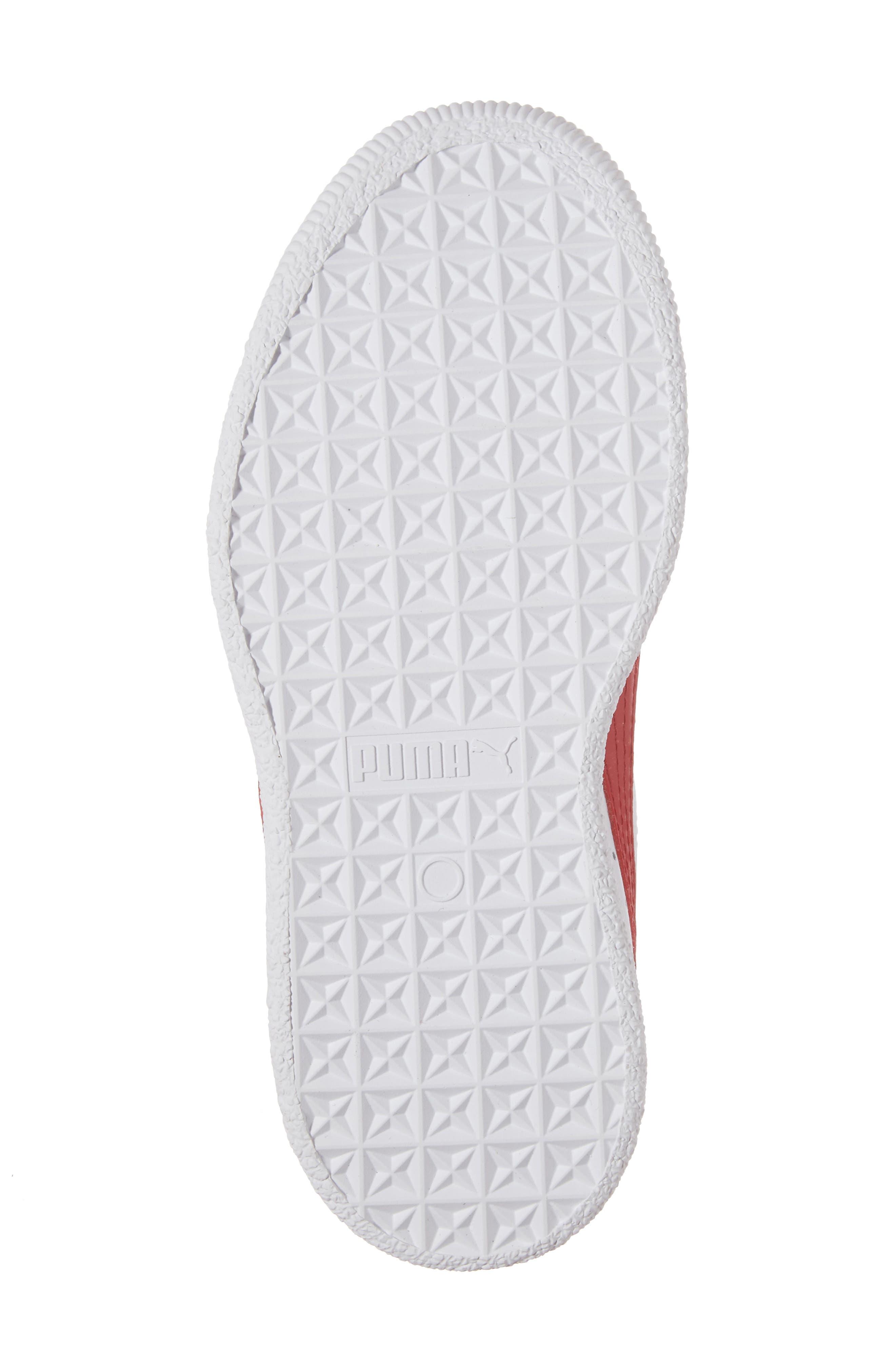 Clyde Core Foil Sneaker,                             Alternate thumbnail 6, color,                             White/ Cherry