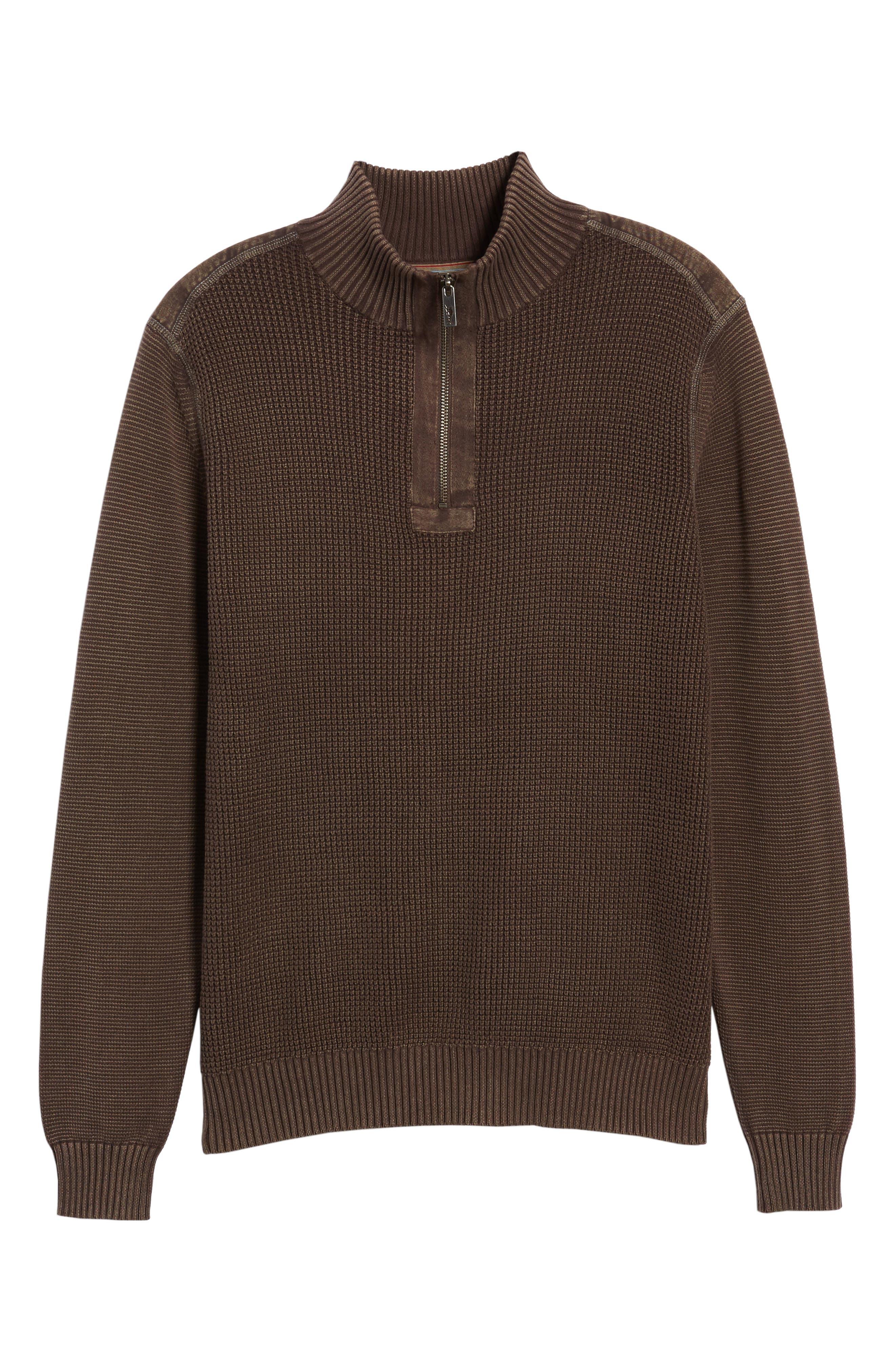 'Coastal Shores' Quarter Zip Sweater,                             Alternate thumbnail 7, color,                             Tilth