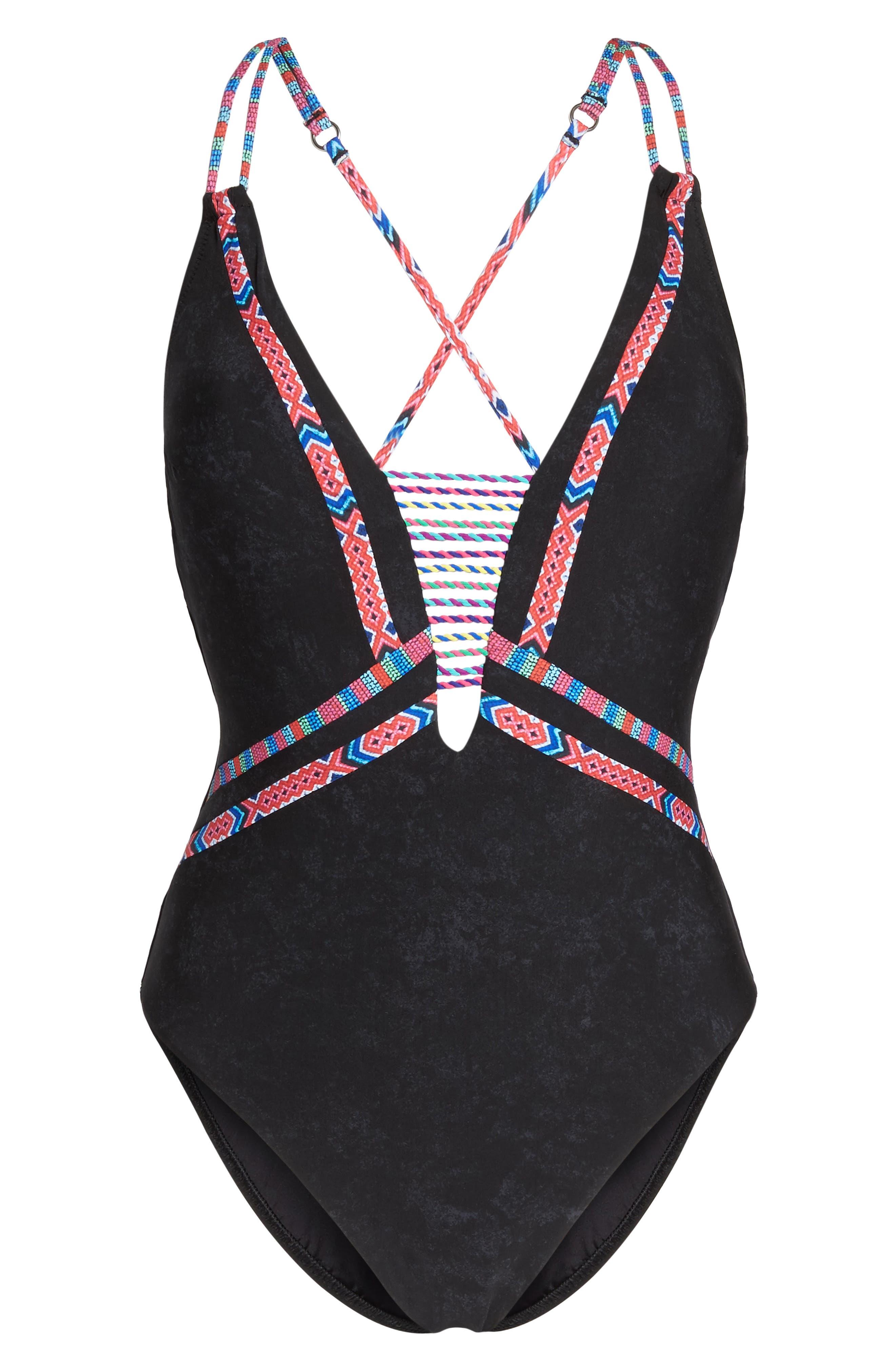 Alternate Image 6  - Nanette Lepore Cha Cha Cha Goddess One-Piece Swimsuit