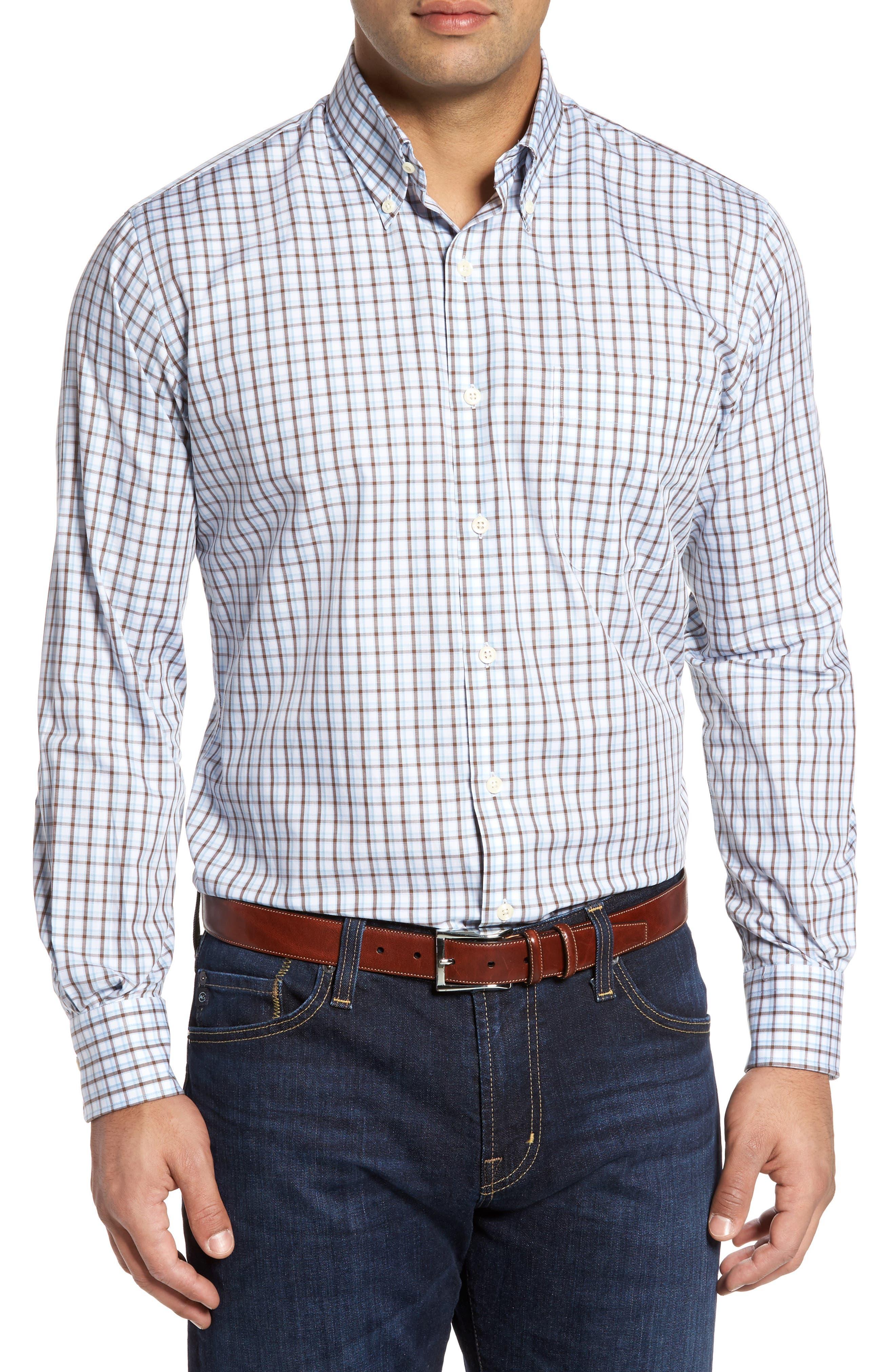 Alternate Image 1 Selected - Peter Millar Regular Fit Crisp Pane Sport Shirt