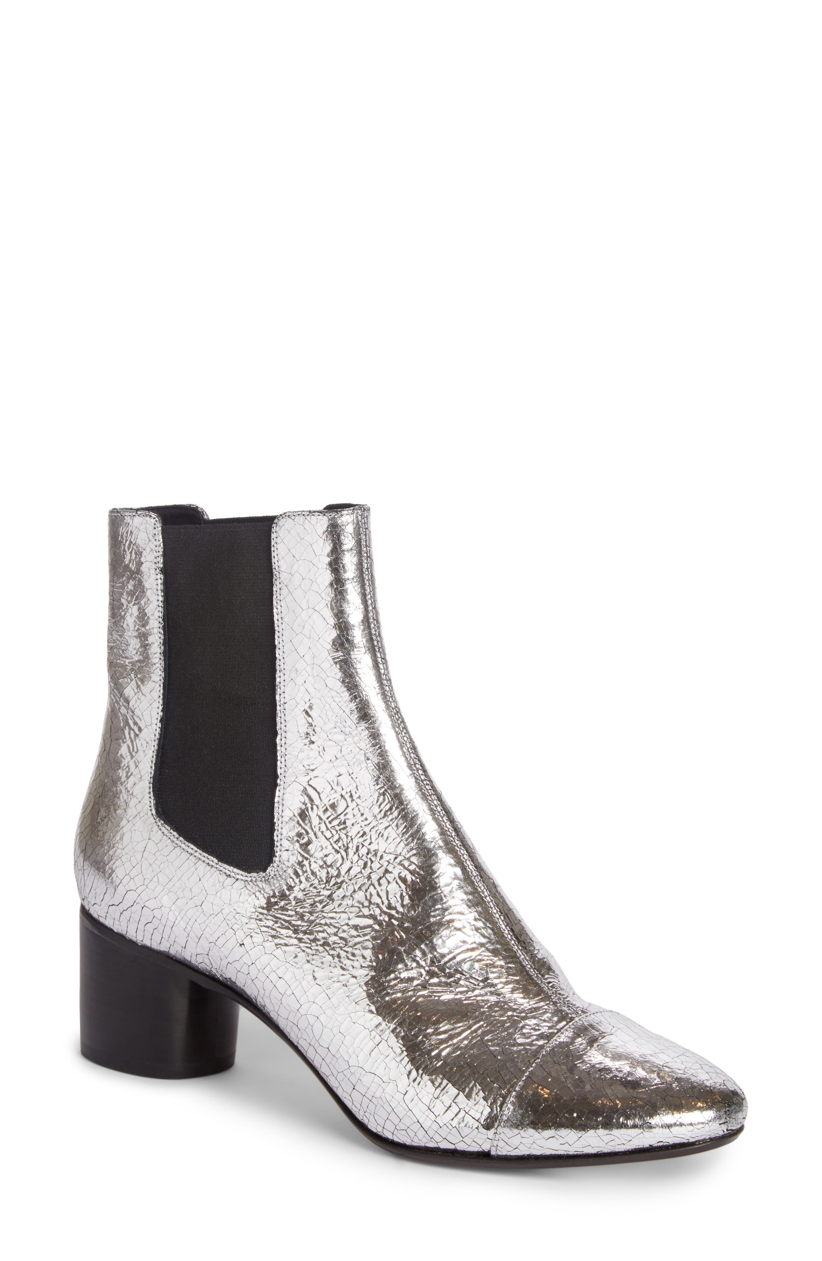 Danelya Chelsea Boot,                         Main,                         color, Silver