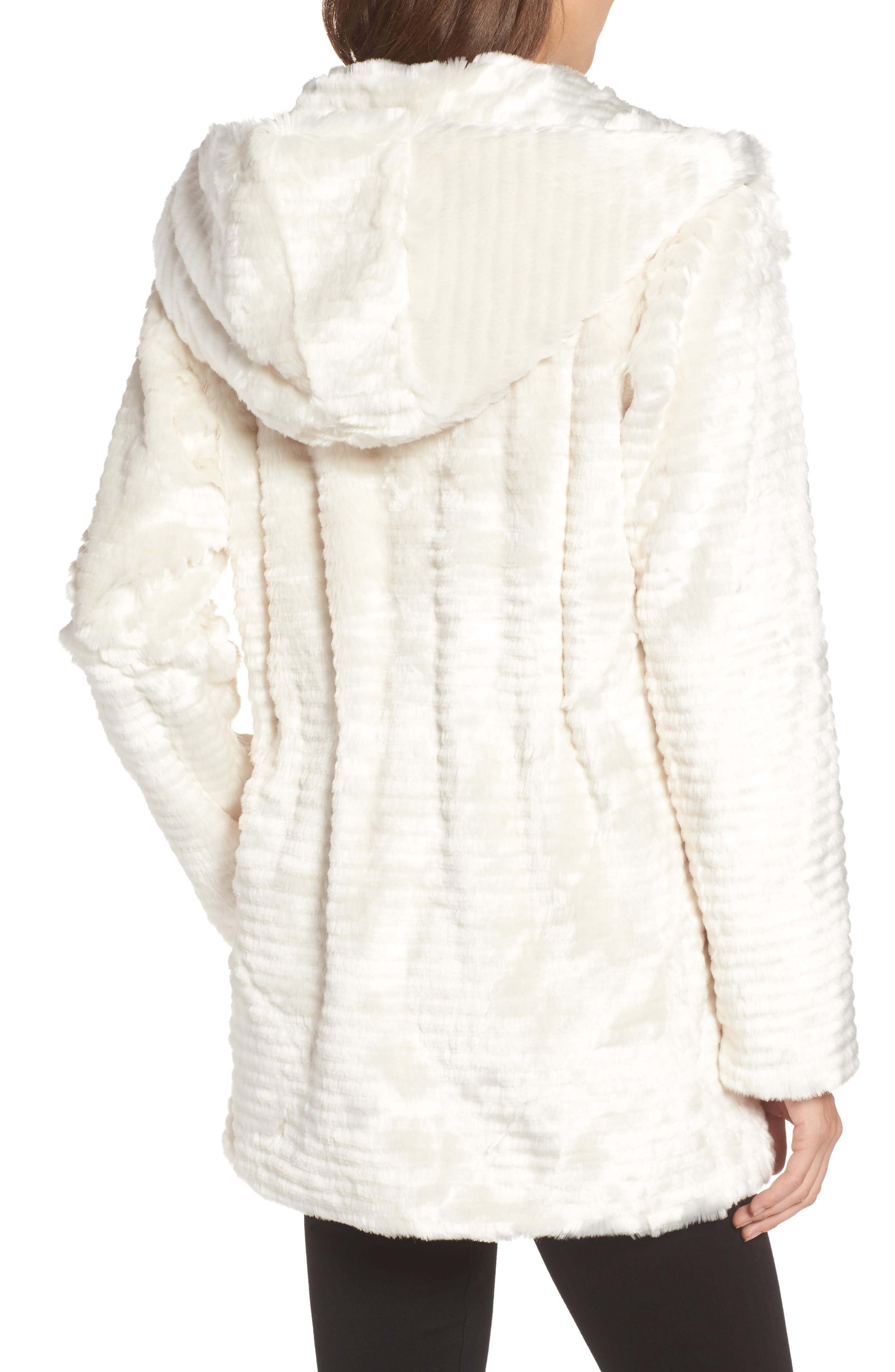 Alternate Image 2  - Vince Camuto Hooded Faux Fur Coat