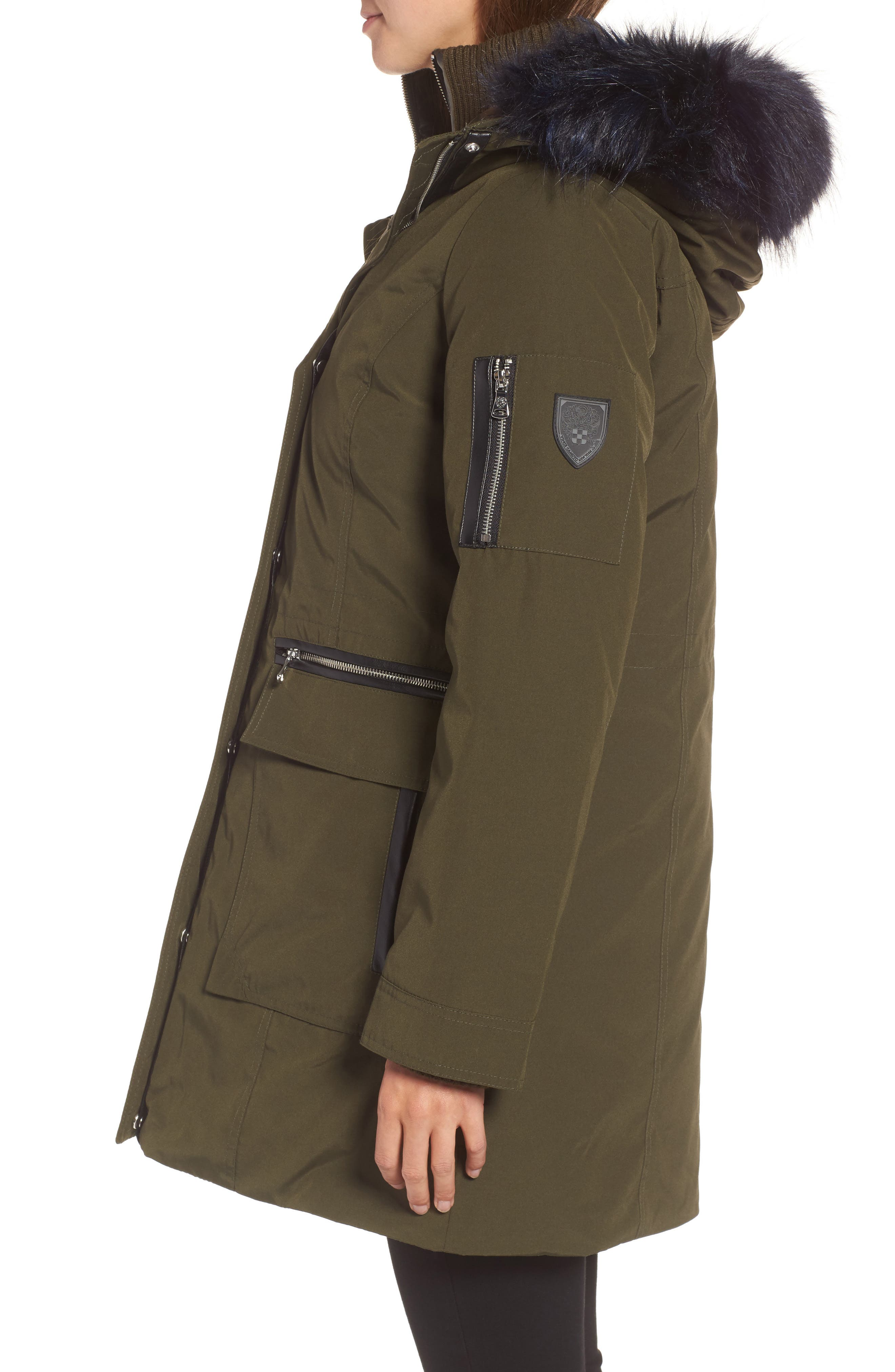 Alternate Image 3  - Vince Camuto Bib Insert Down & Feather Fill Coat