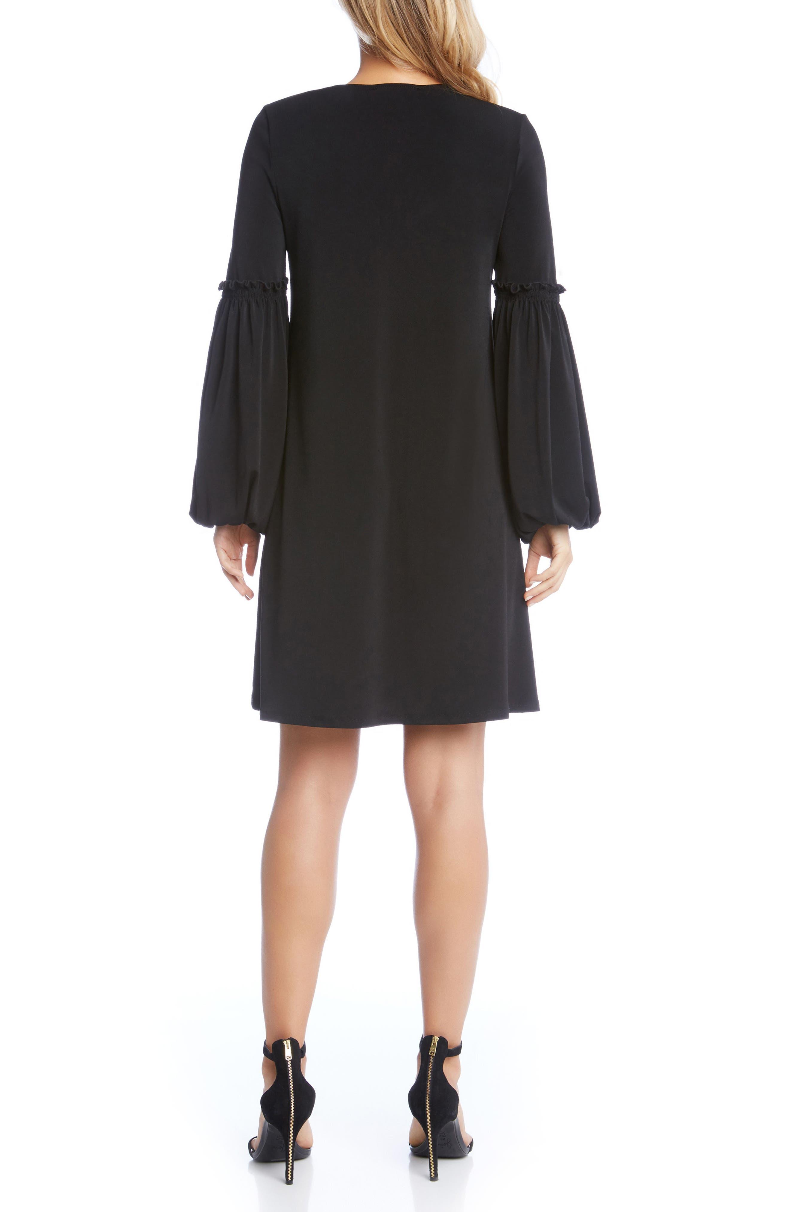 Harper Blouson Sleeve Shift Dress,                             Alternate thumbnail 2, color,                             Black