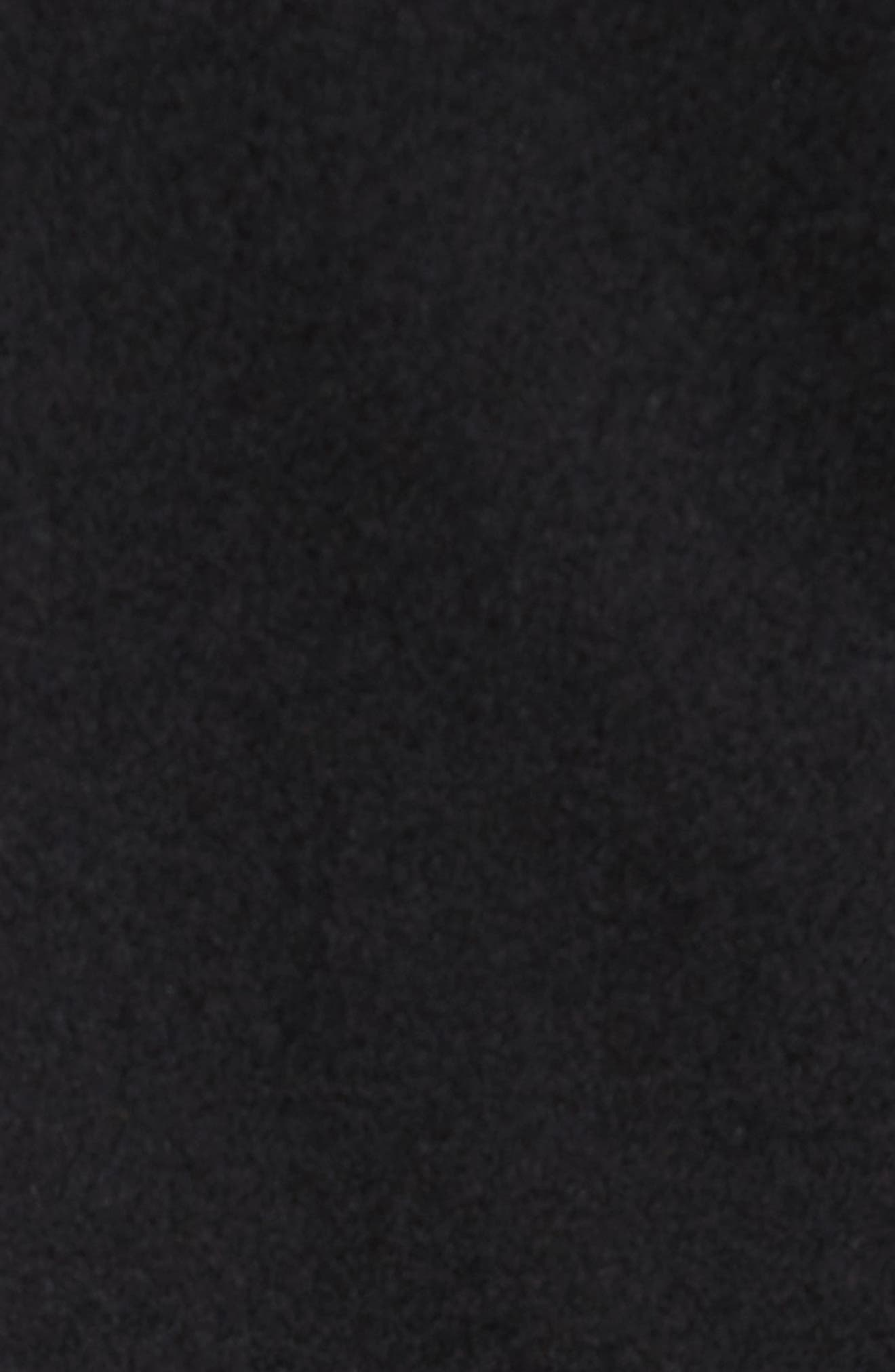 Melton Wool Blend Coat,                             Alternate thumbnail 5, color,                             Black