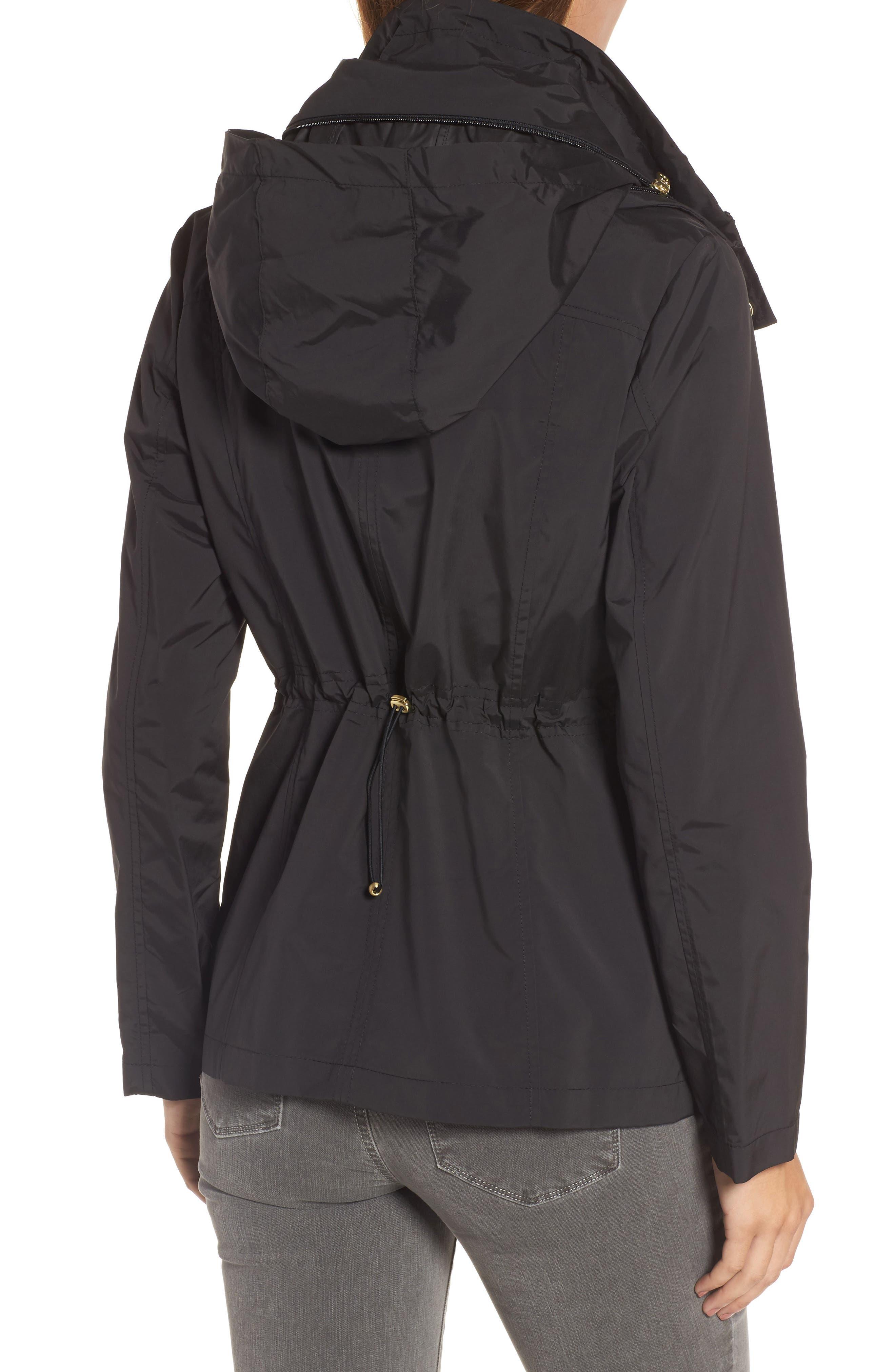 Packable Raincoat,                             Alternate thumbnail 2, color,                             Black