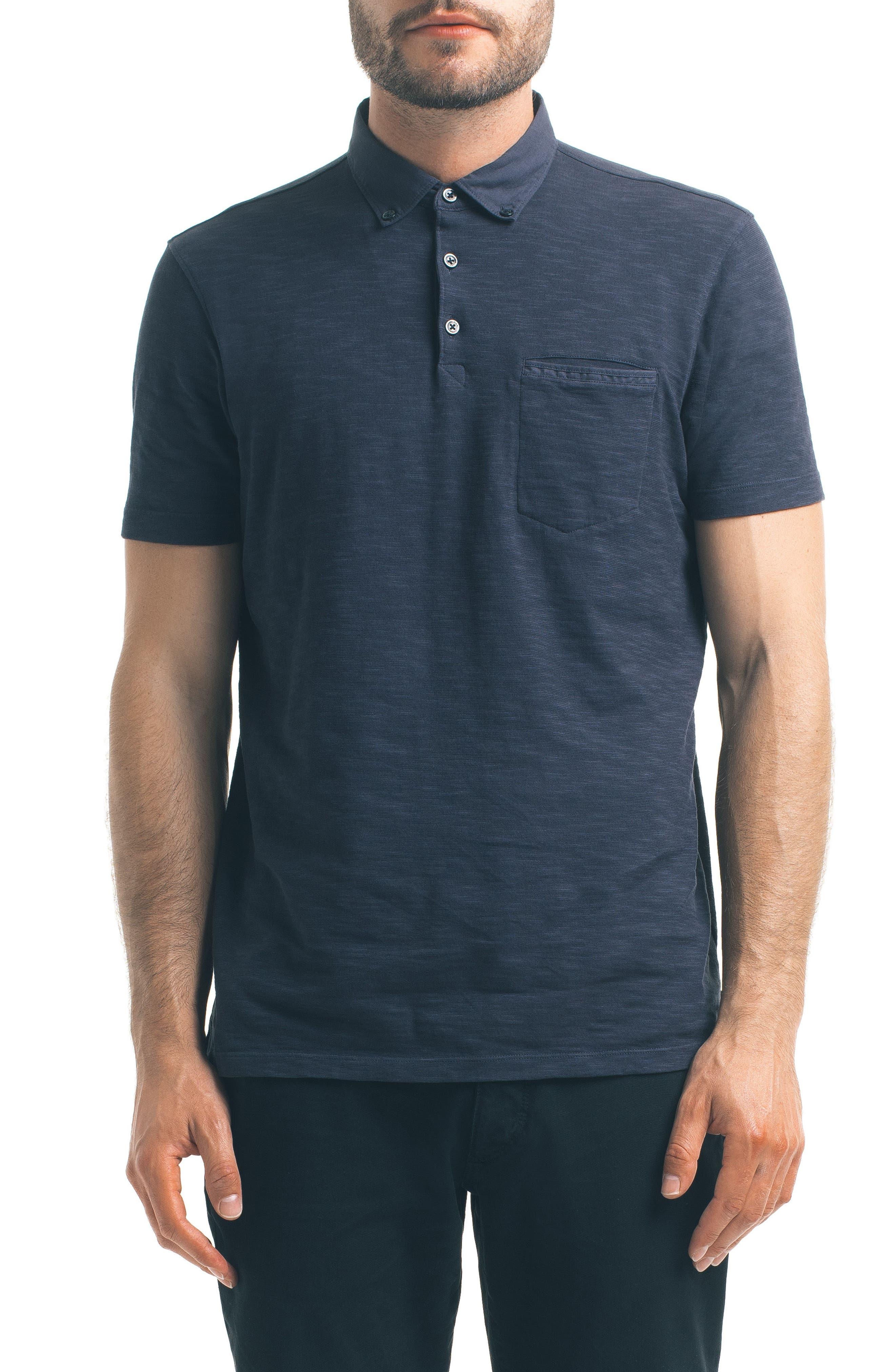 Main Image - Good Man Brand Woven Collar Polo