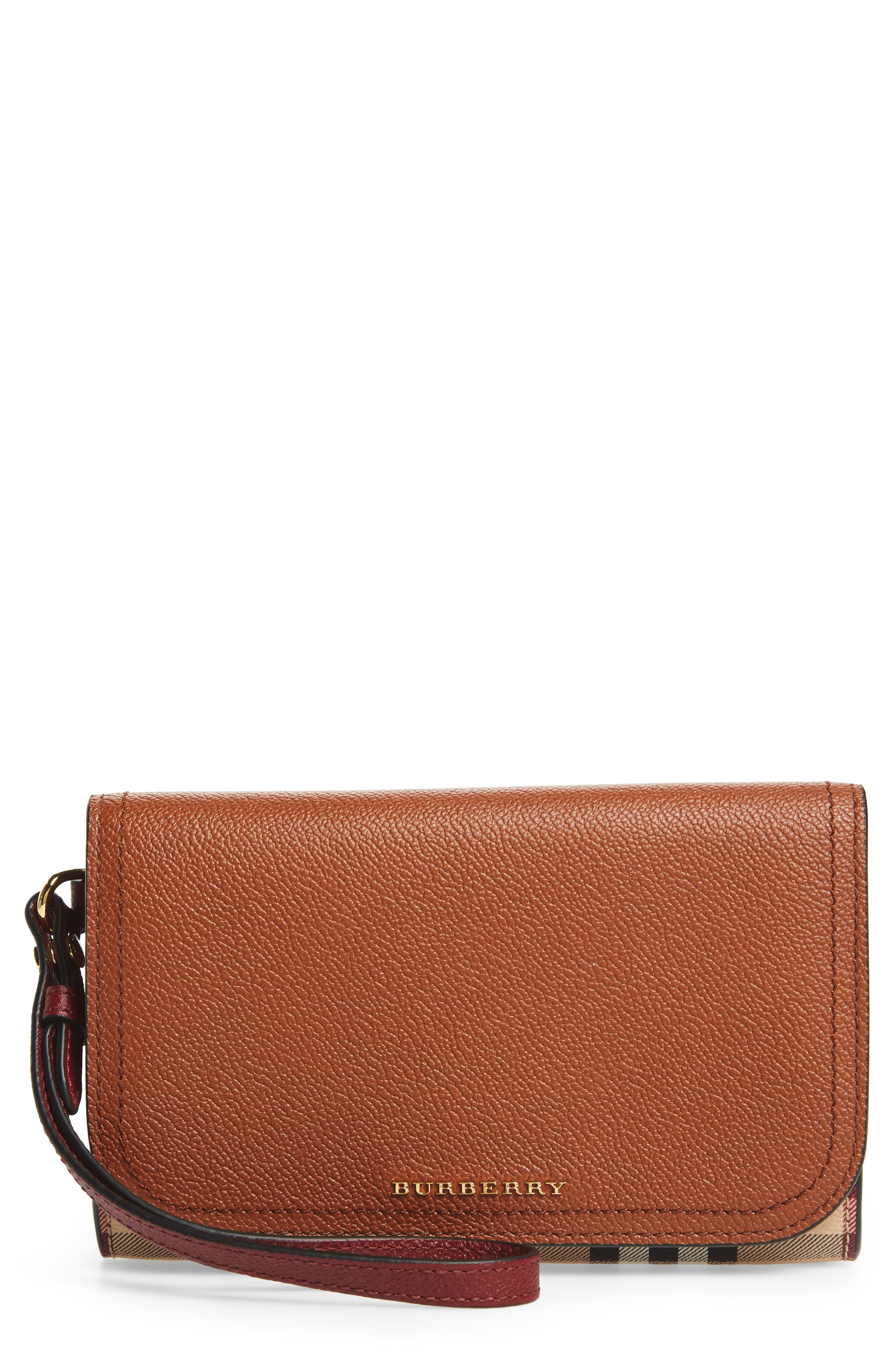 Burberry Paine Leather Wristlet