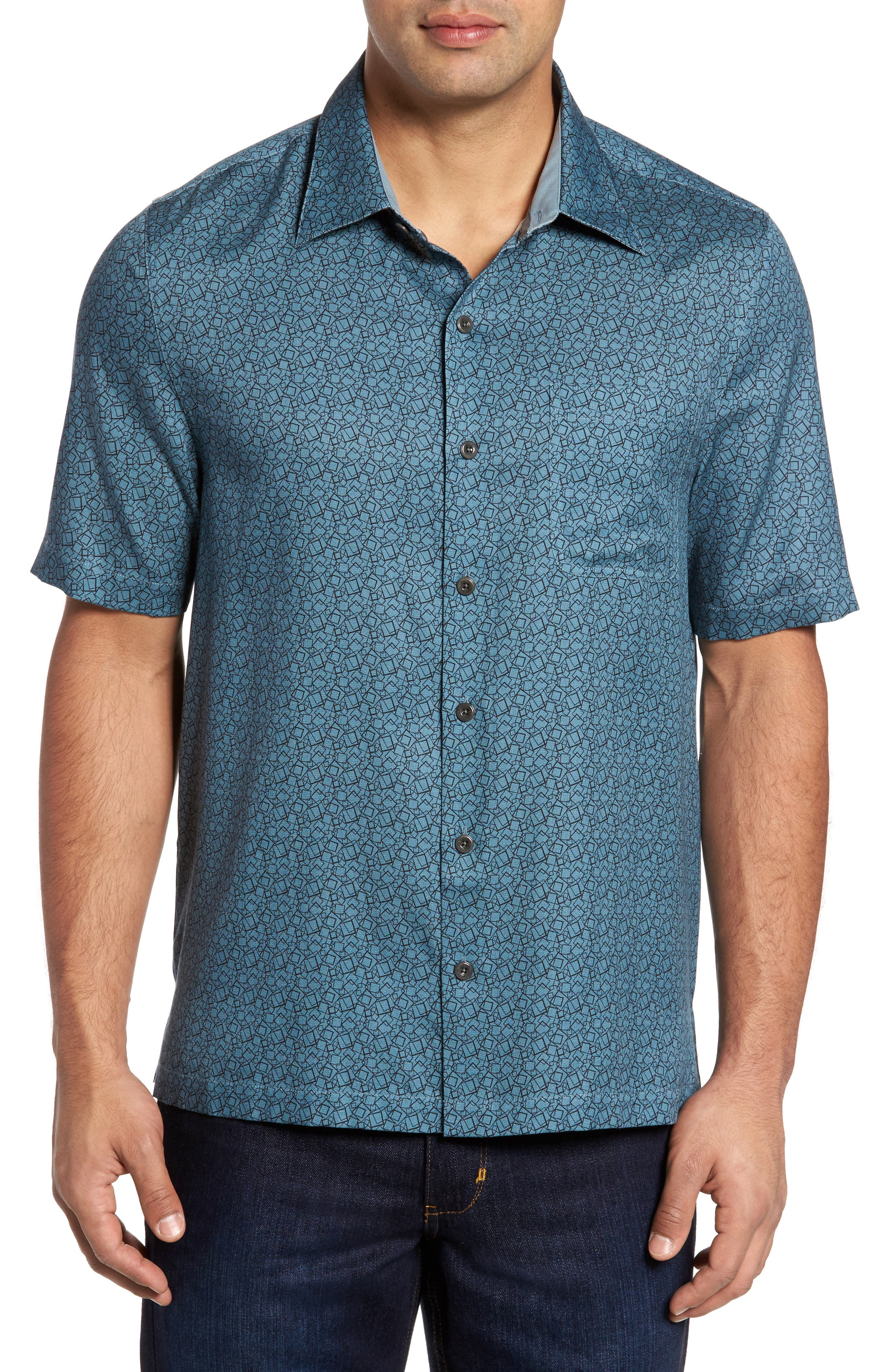 Alternate Image 1 Selected - Nat Nast Blizzard Classic Fit Silk Blend Sport Shirt