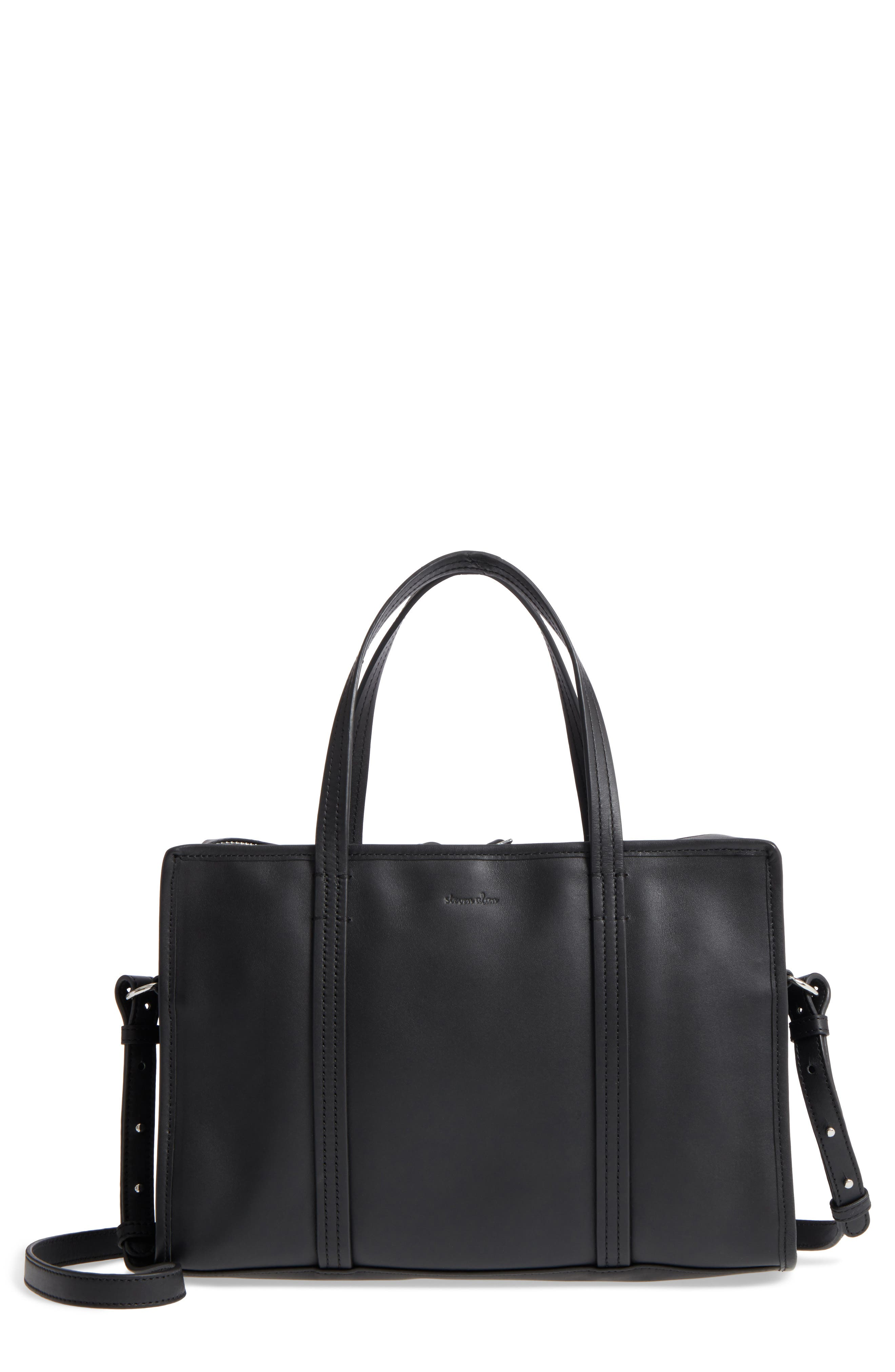 Main Image - Steven Alan Large Simone Calfskin Leather Satchel