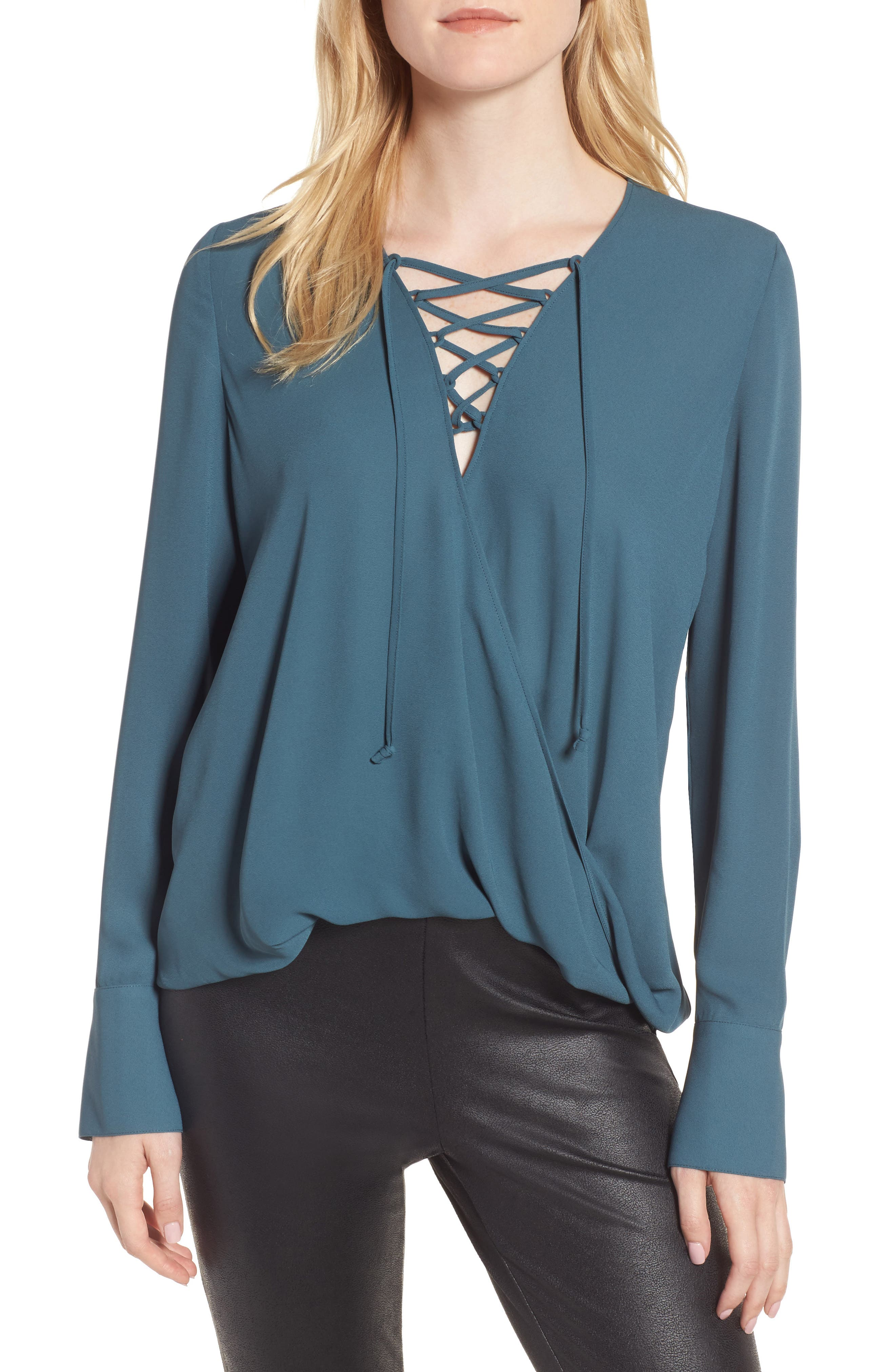 Main Image - Trouvé Lace-Up Top