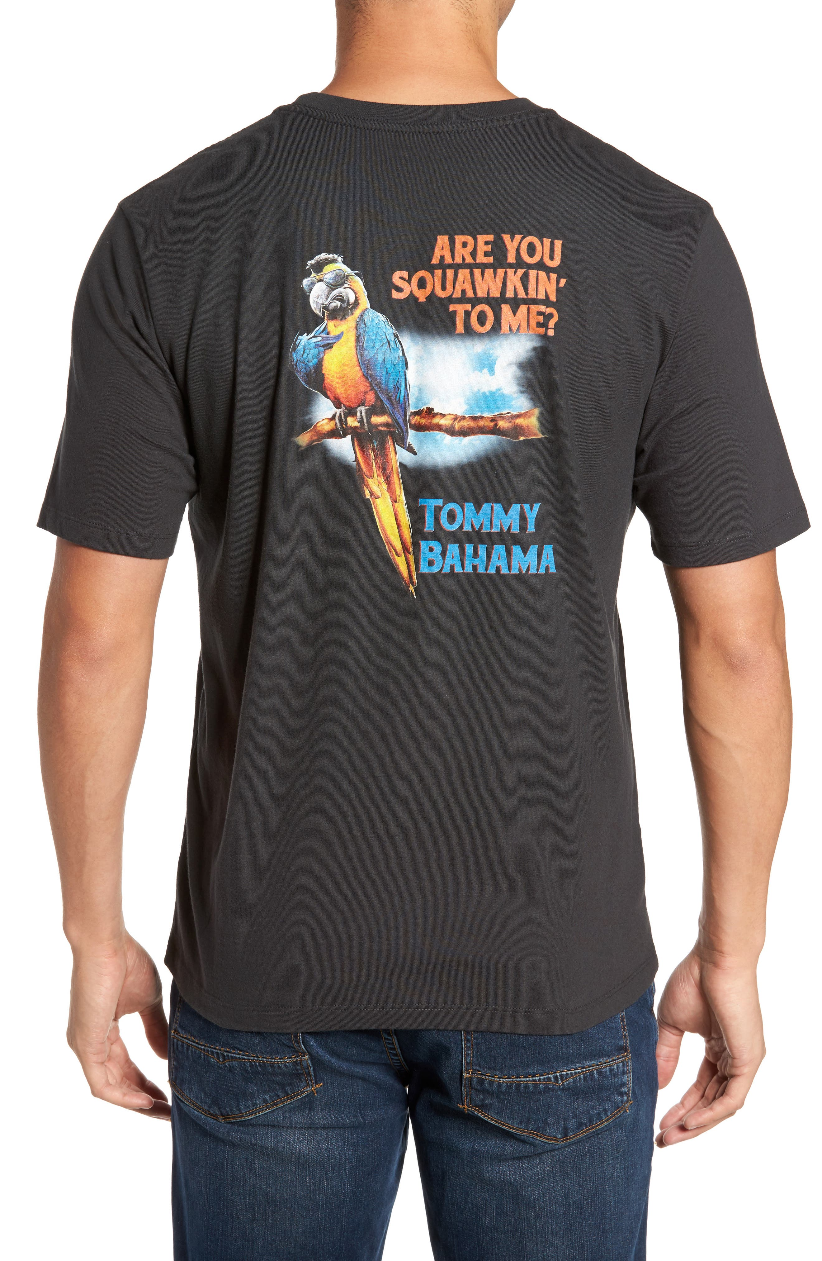 Squawkin To Me Graphic T-Shirt,                         Main,                         color, Coal