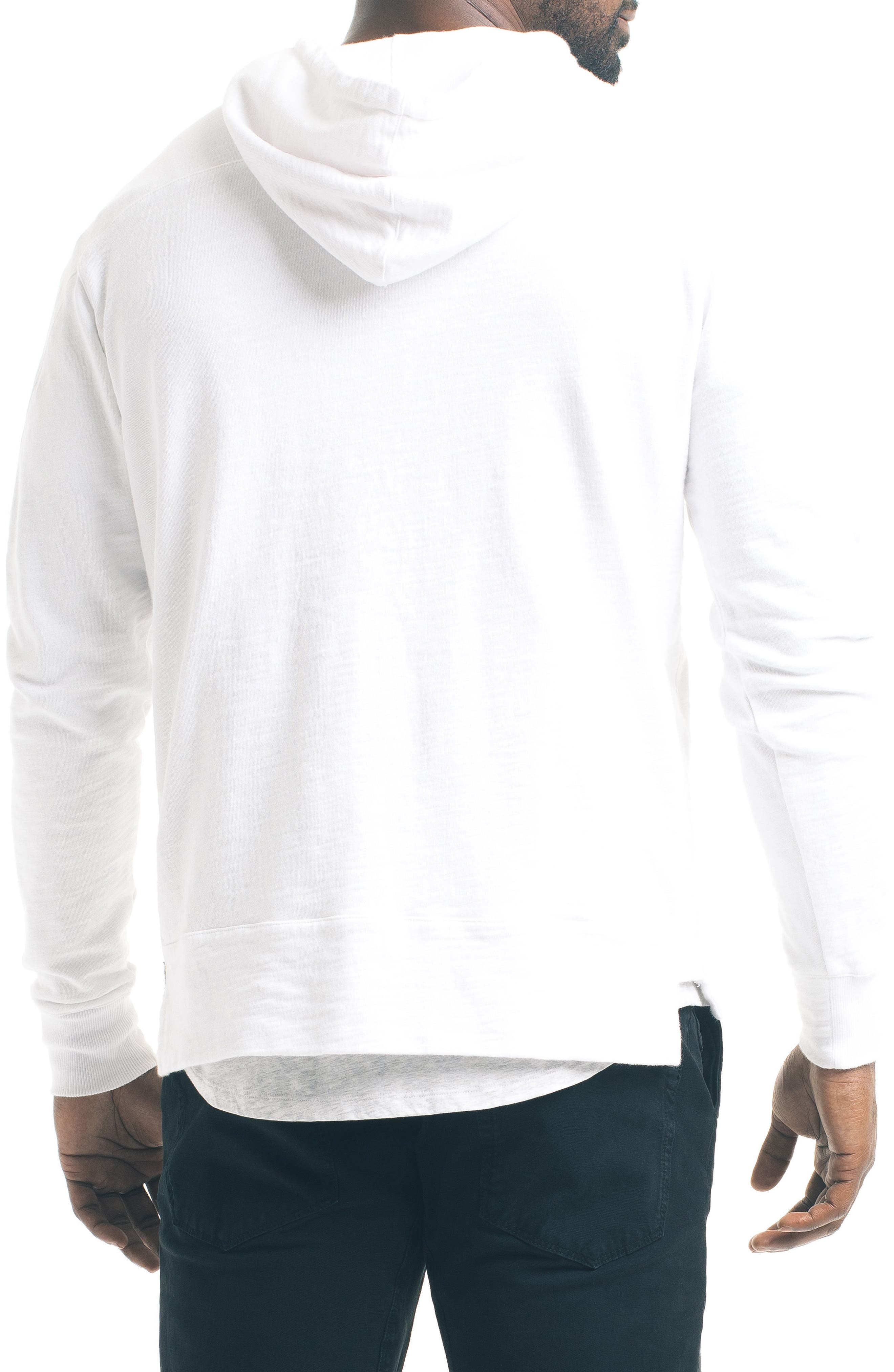 Slim Pro Hoodie,                             Alternate thumbnail 2, color,                             White