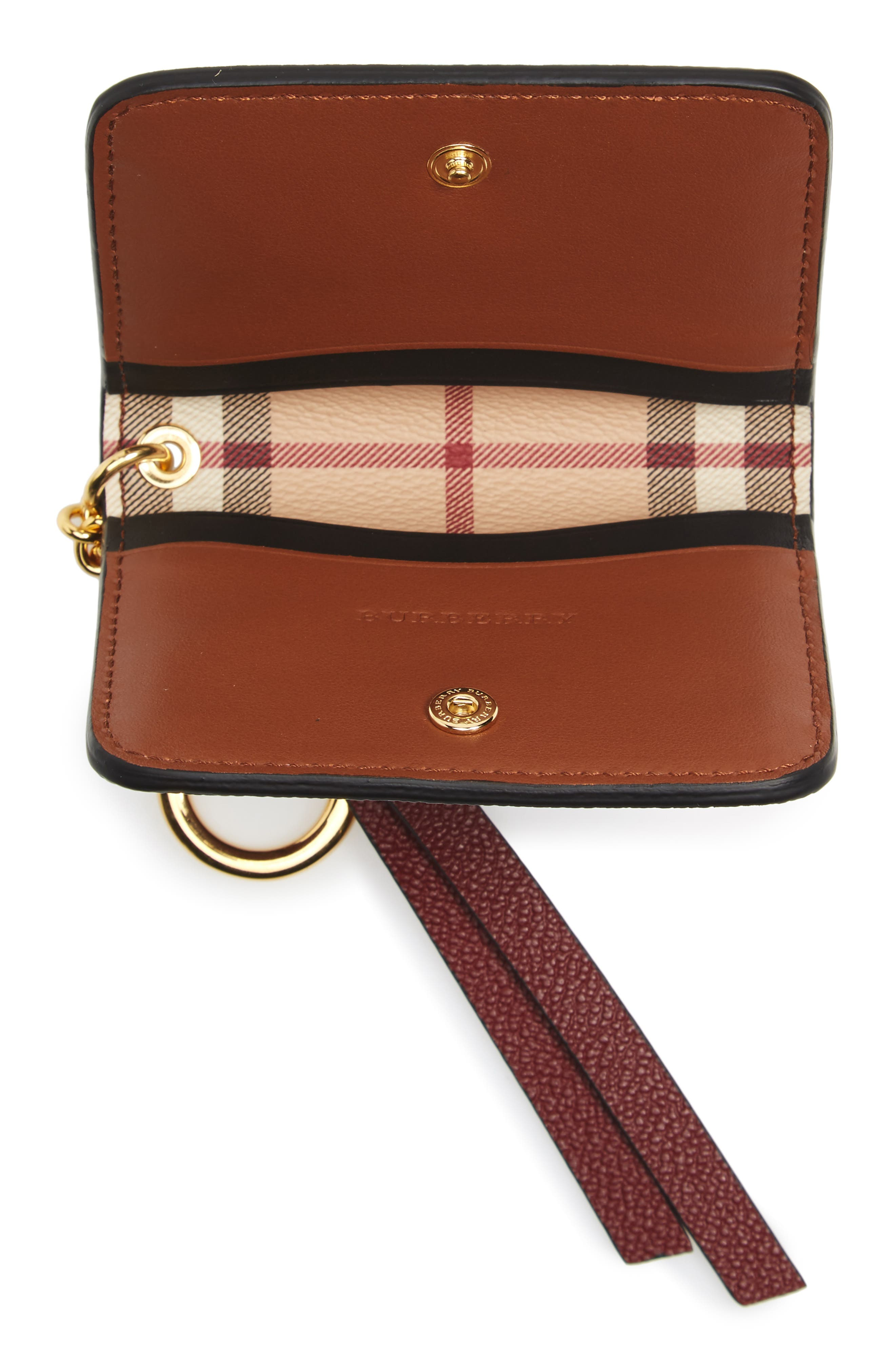 Alternate Image 2  - Burberry Camberwellid Leather Card Case Bag Charm
