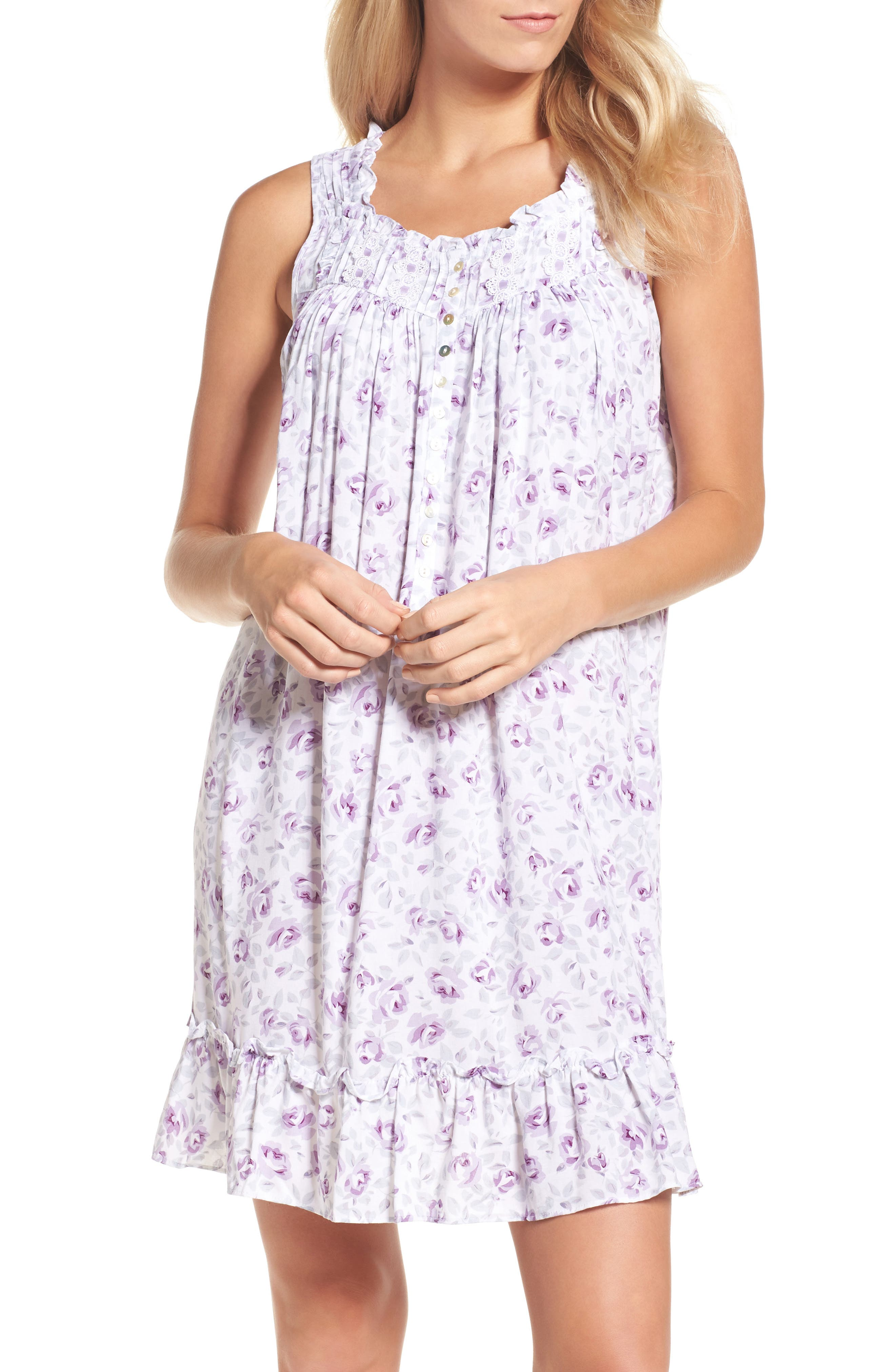 Short Chemise,                         Main,                         color, Lilac Water Color