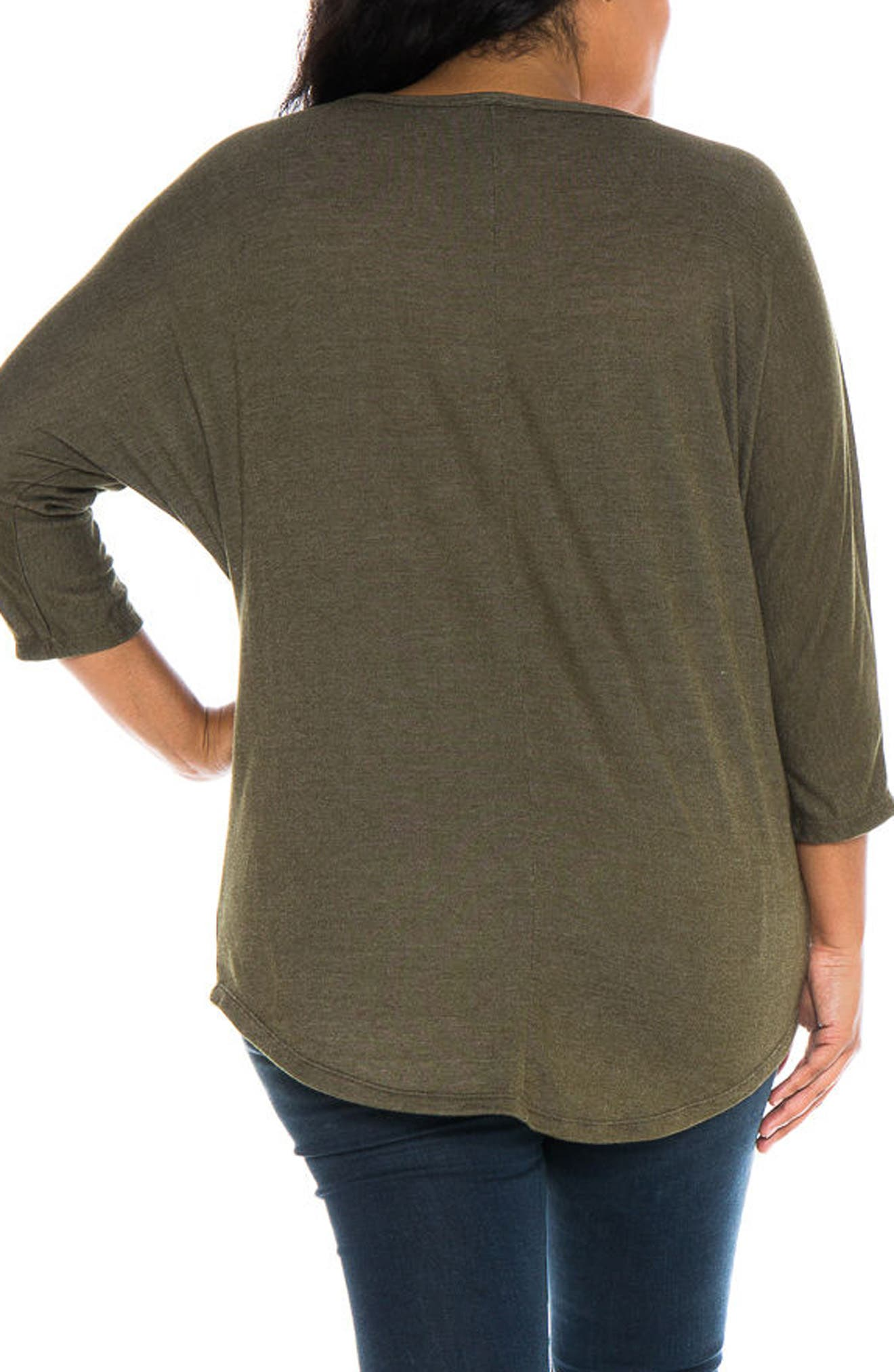 Alternate Image 3  - SLINK Jeans Dolman Sleeve Top (Plus Size)