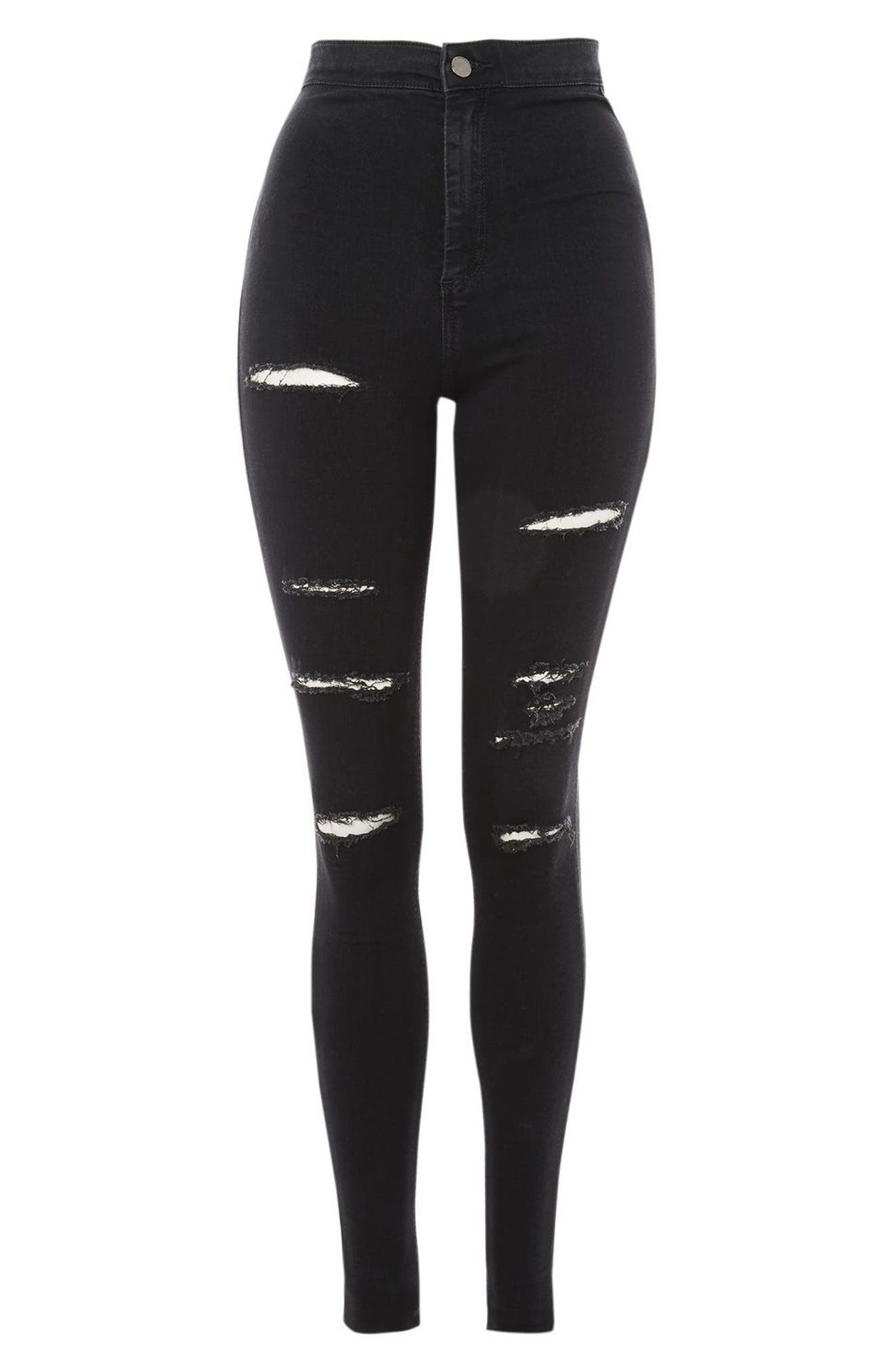 Alternate Image 3  - Topshop Joni Super Rip Skinny Jeans (Tall)