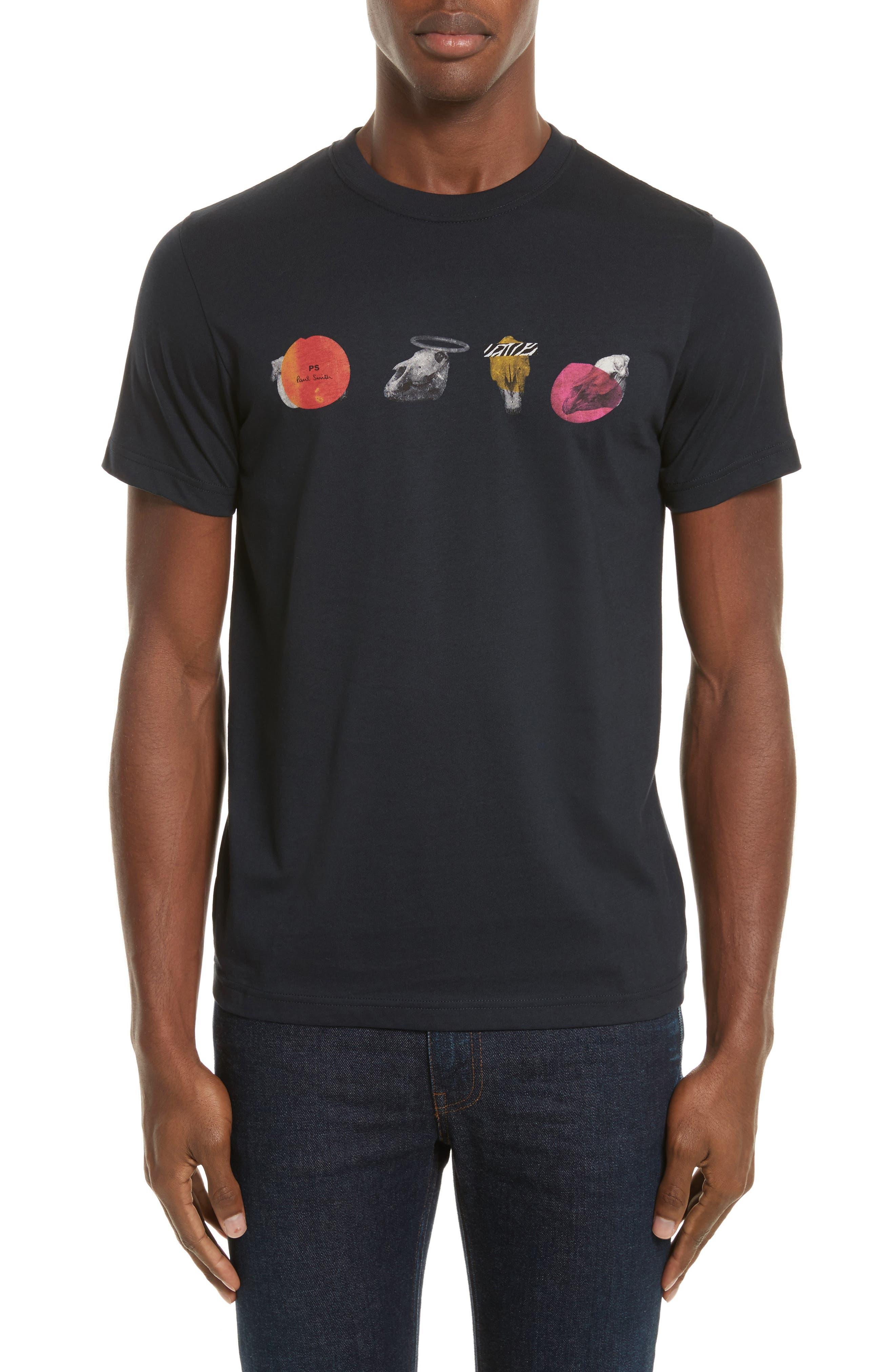 Mini Skulls Graphic T-Shirt,                             Main thumbnail 1, color,                             Blue