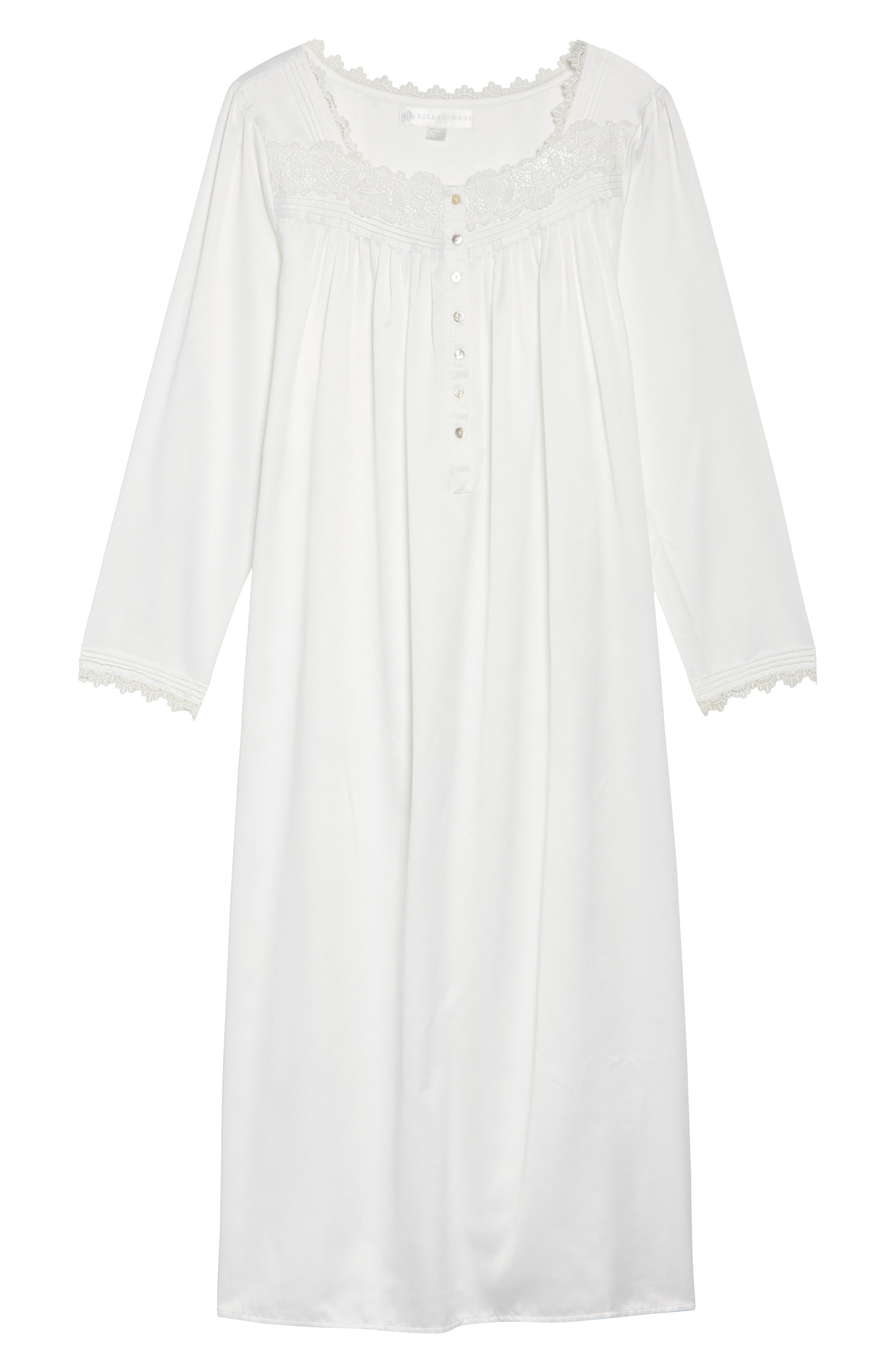 Nightgown,                             Alternate thumbnail 4, color,                             Solid Winter White