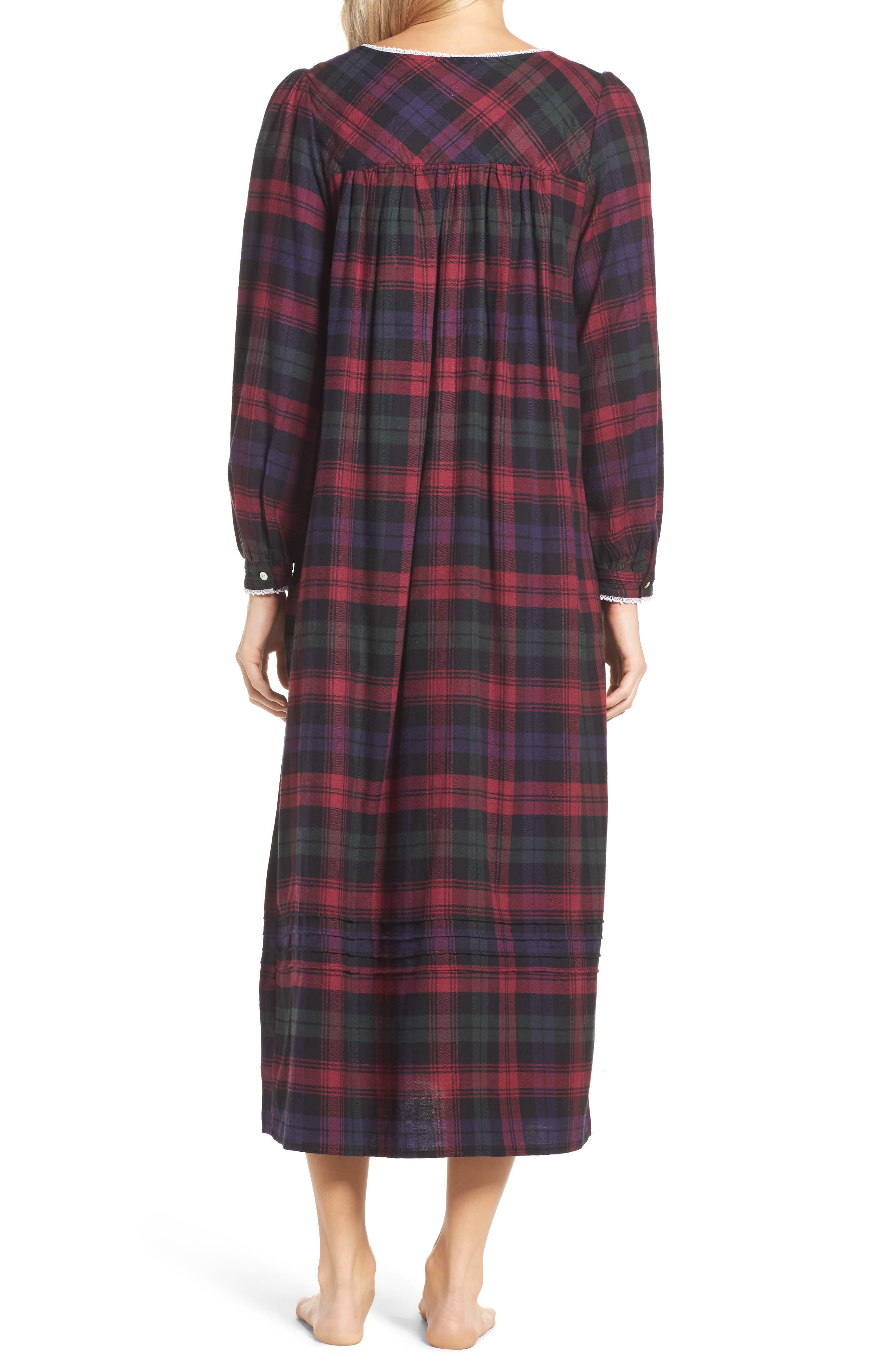 Alternate Image 2  - Eileen West Ballet Flannel Nightgown