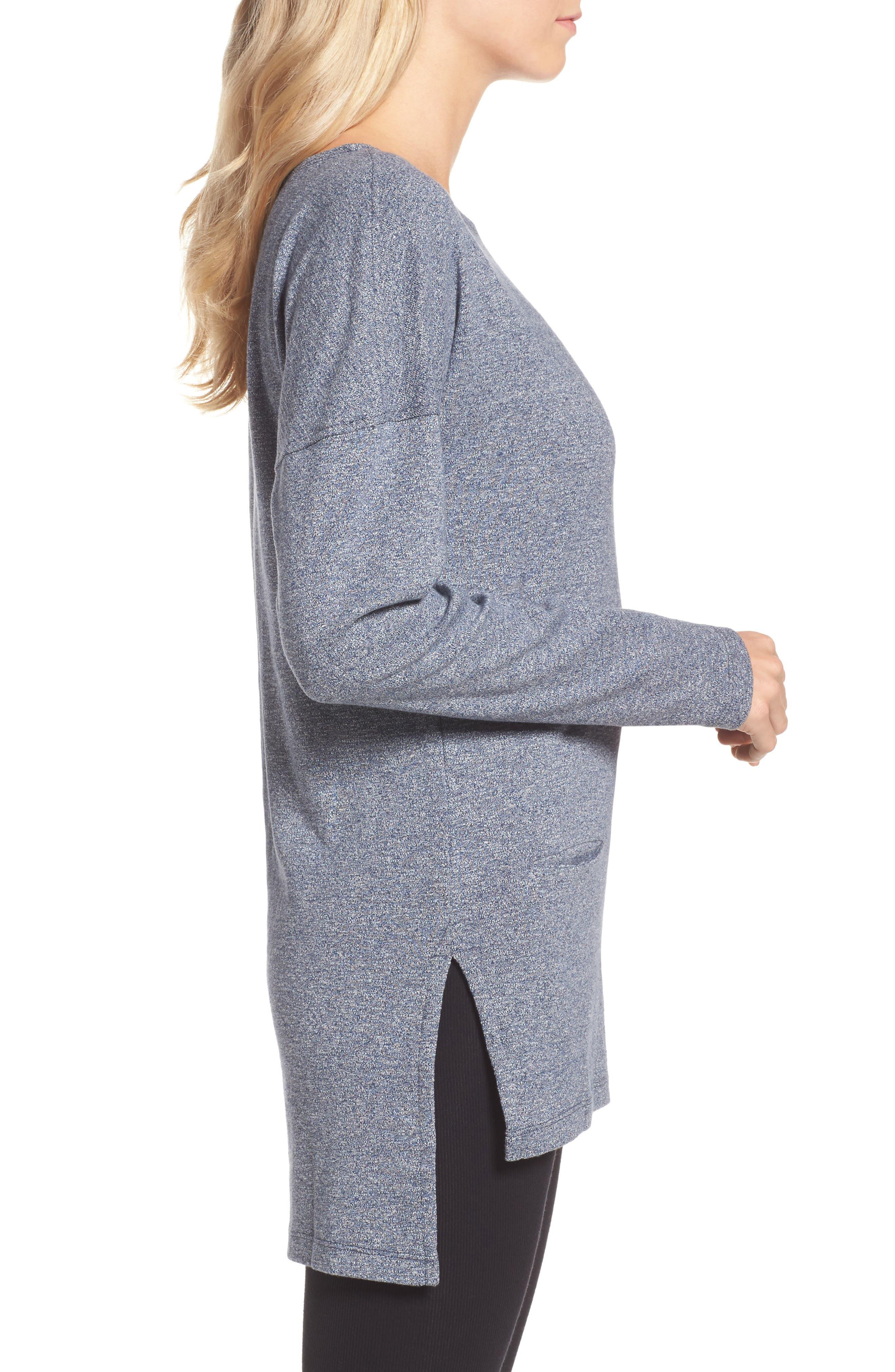 Alternate Image 3  - UGG® Luella High/Low Cotton Pullover
