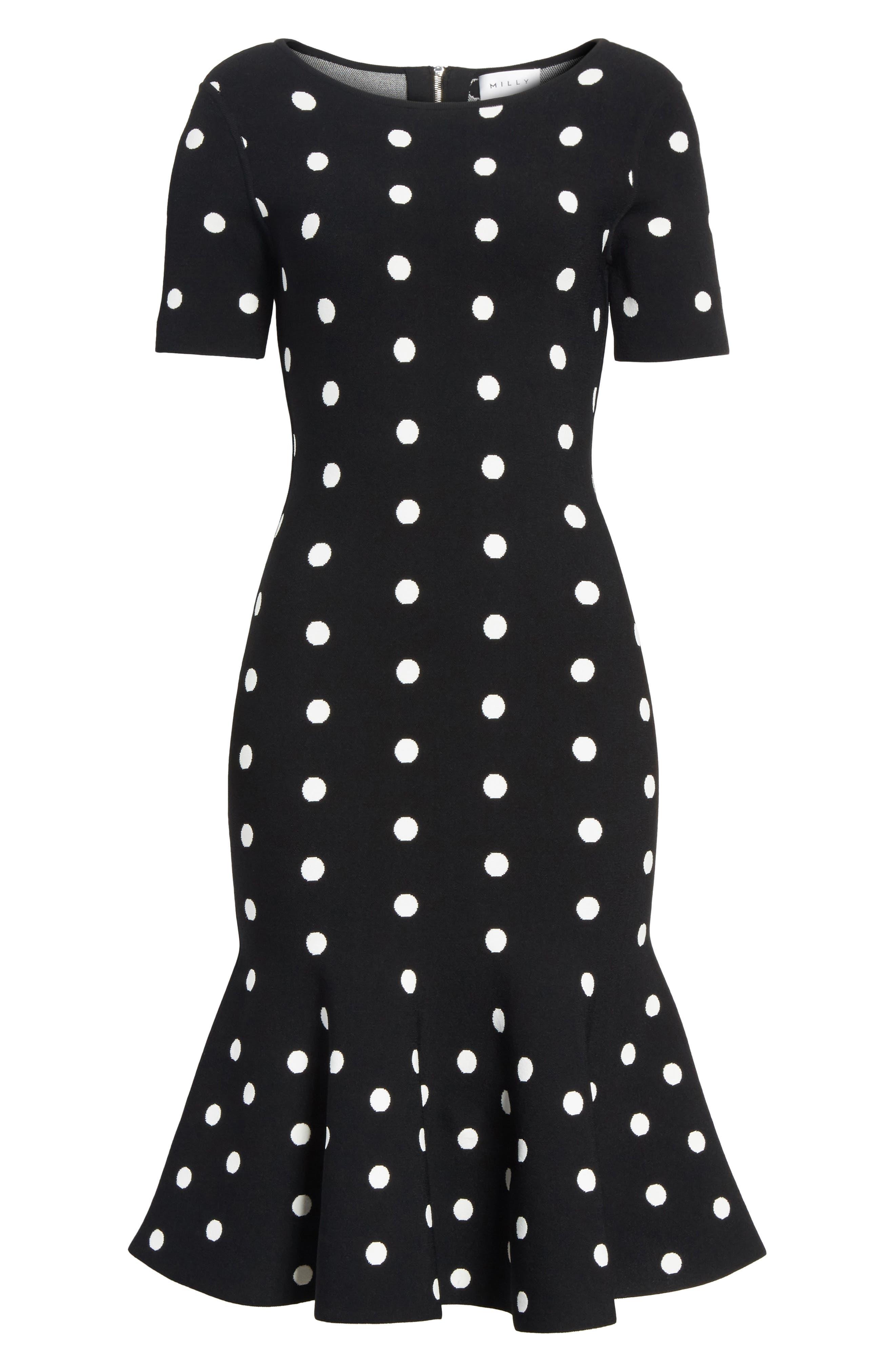 Alternate Image 6  - Milly Polka Dot Mermaid Dress